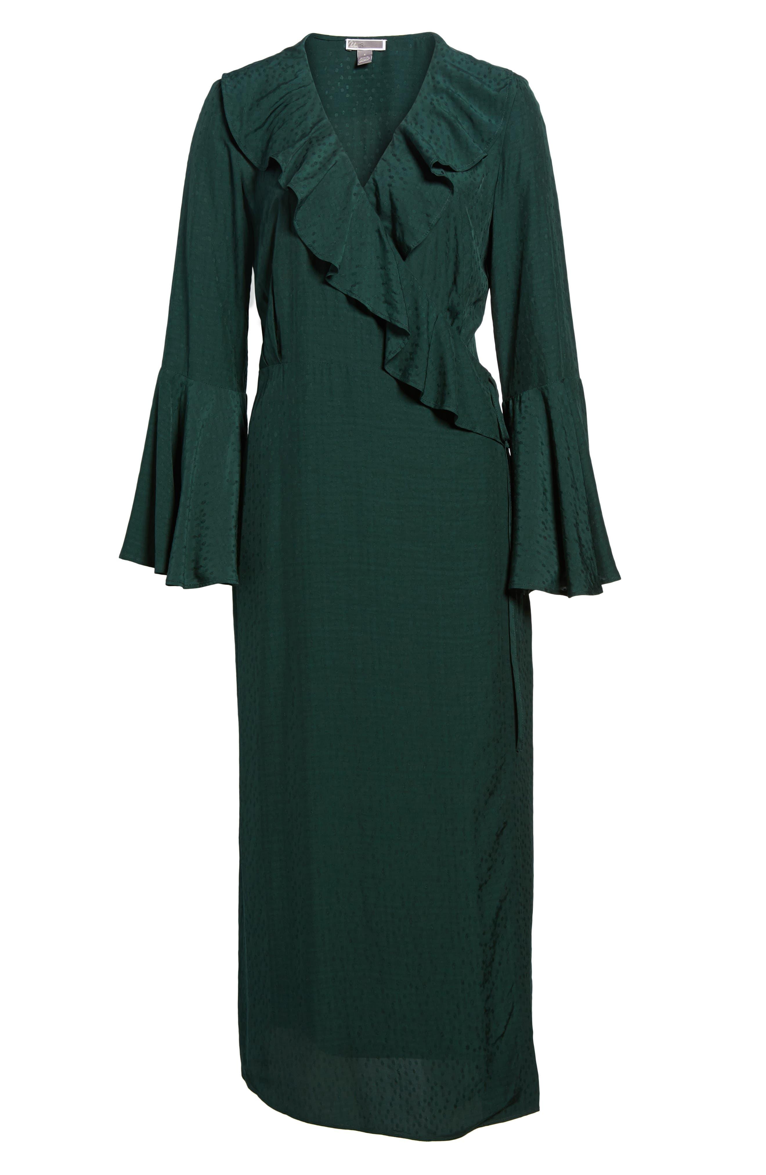 Midi Wrap Dress,                             Alternate thumbnail 6, color,                             301