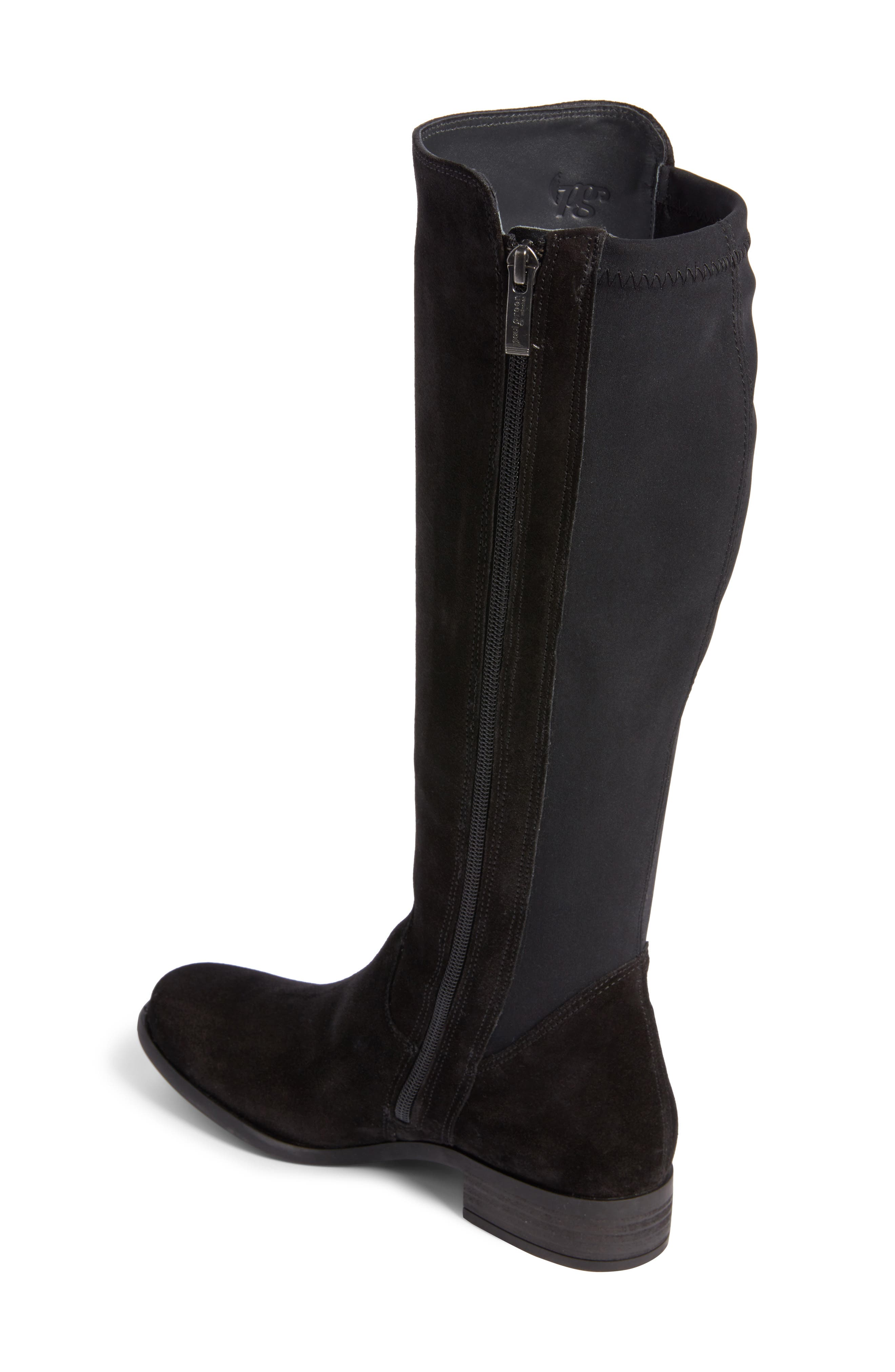 Nola Tall Water Resistant Boot,                             Alternate thumbnail 2, color,                             009