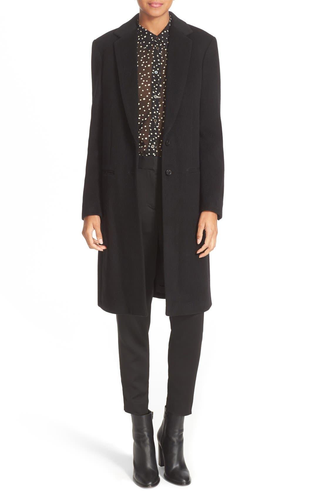 JOSEPH Mart Wool & Cashmere Coat, Main, color, 001