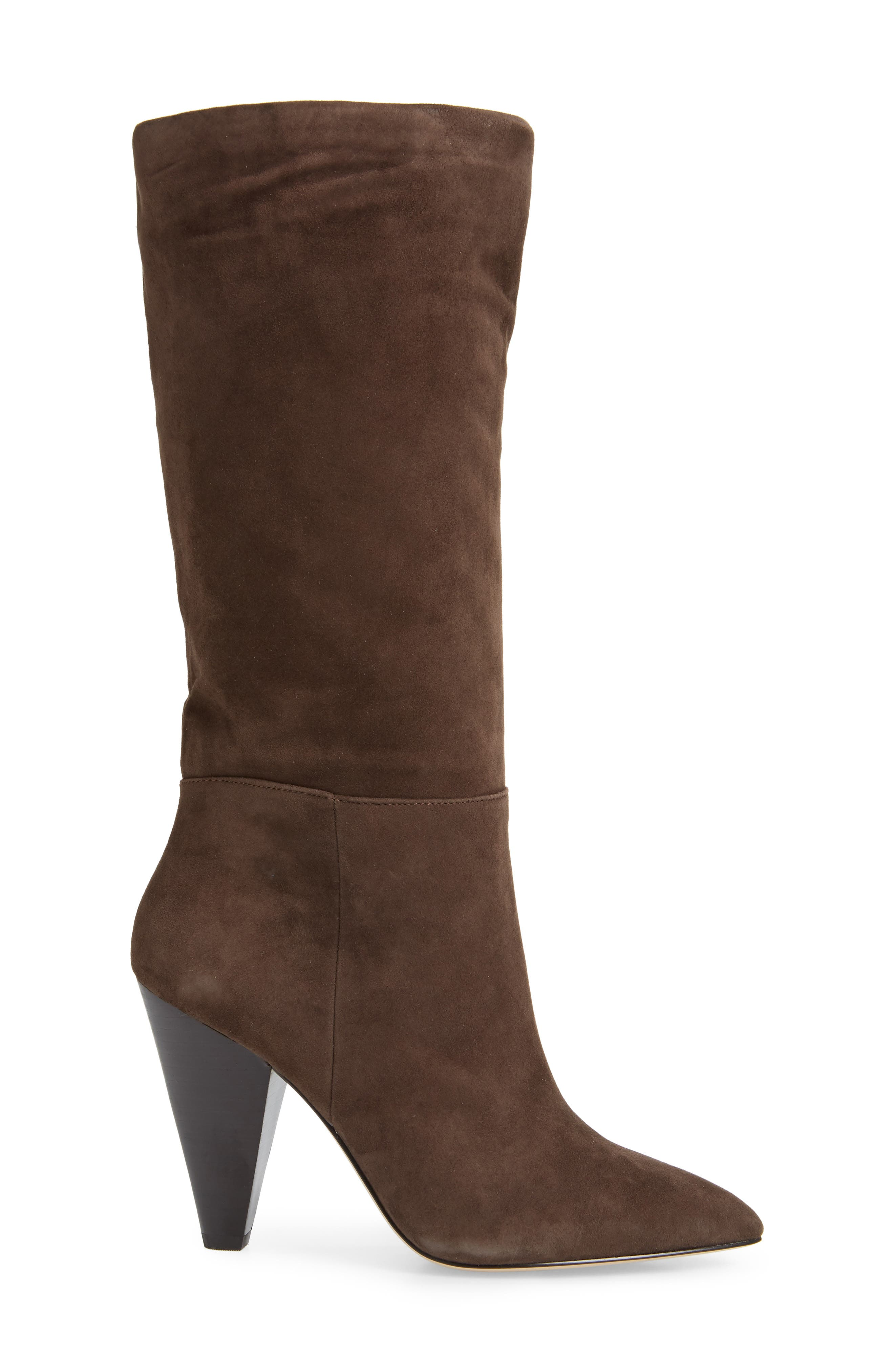 Parker Suede Boot,                             Alternate thumbnail 4, color,                             CHOCOLATE SUEDE