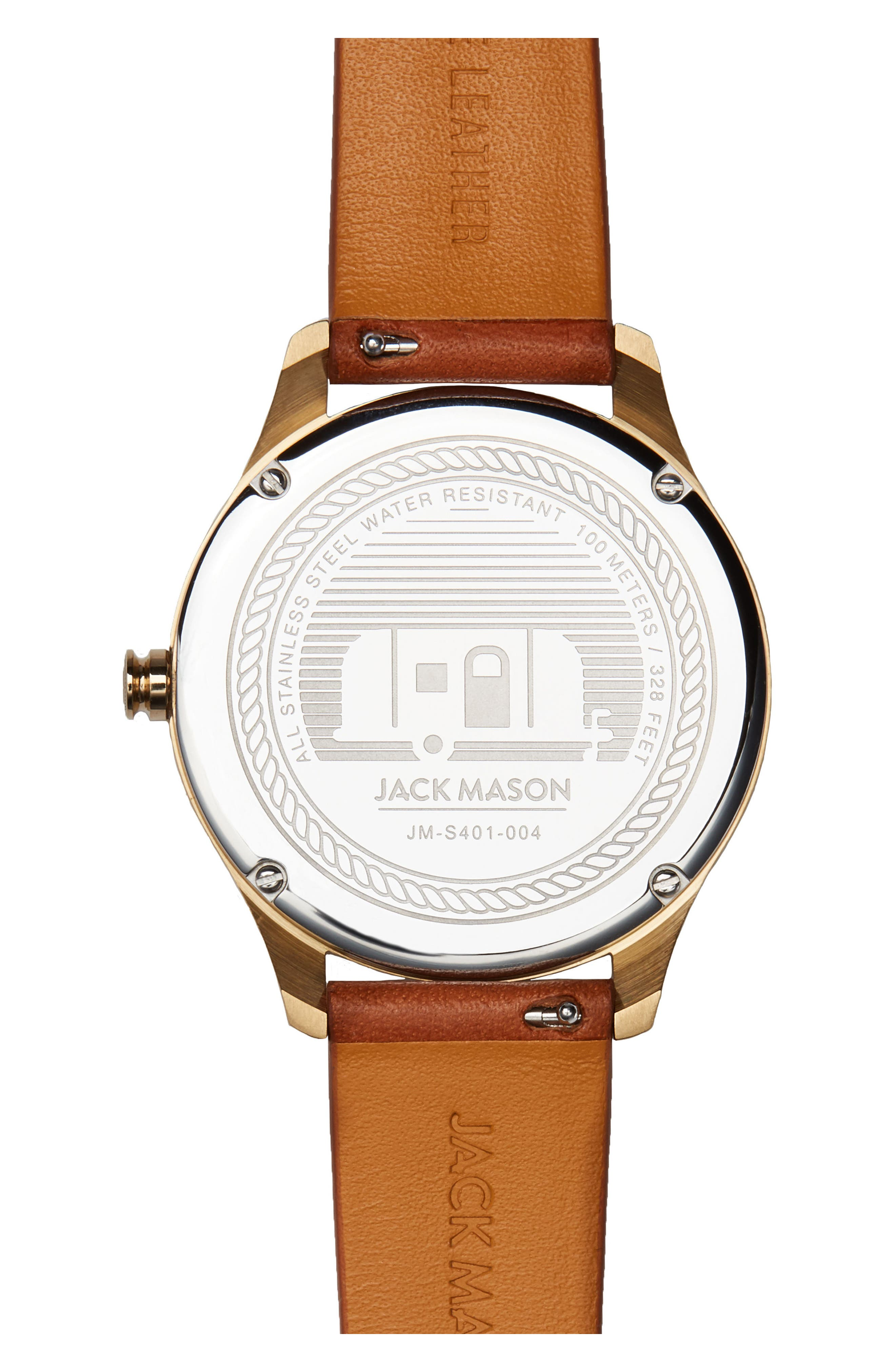 Slim Leather Strap Watch, 38mm,                             Alternate thumbnail 8, color,
