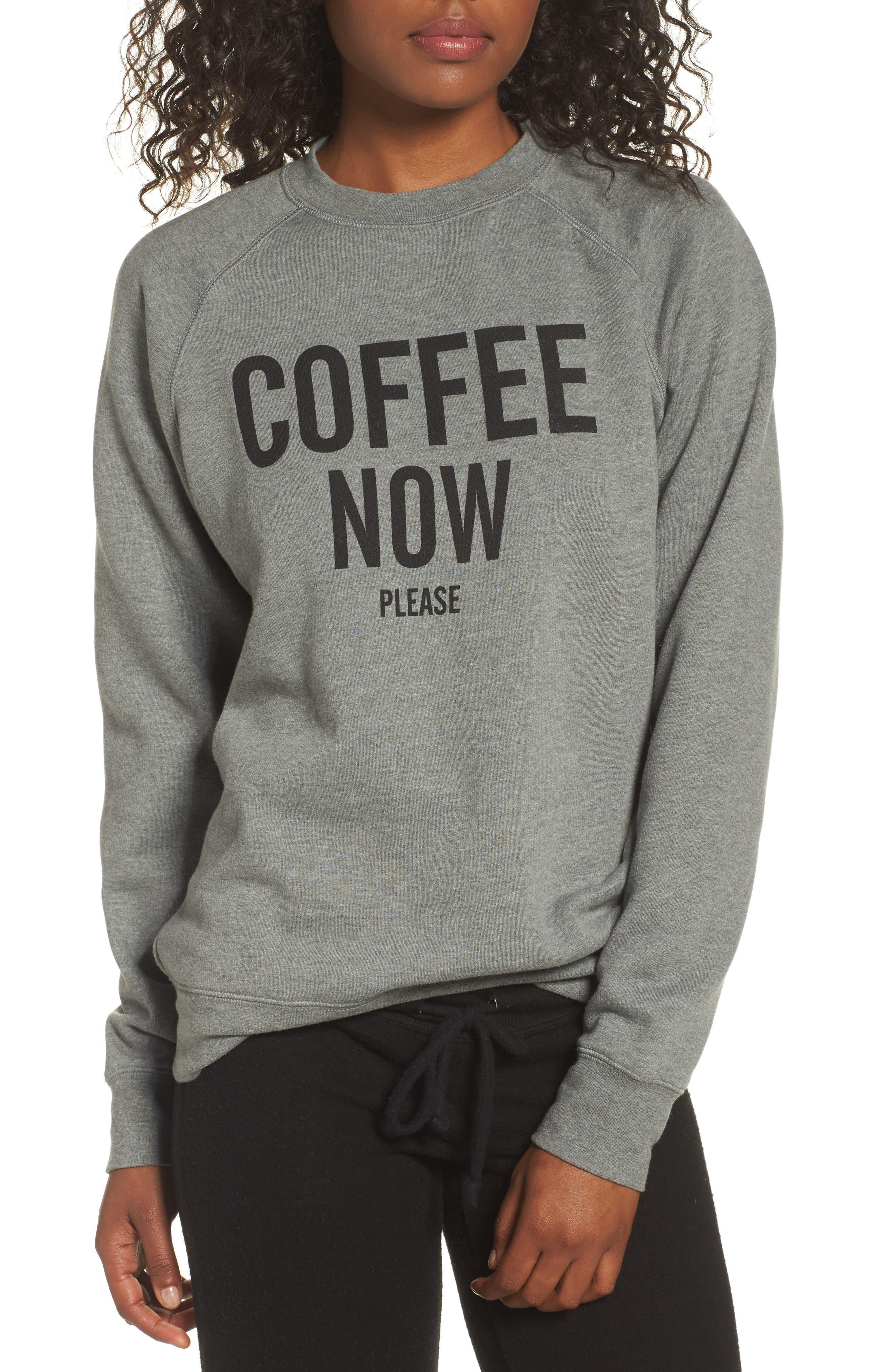 Coffee Now Lounge Sweatshirt,                         Main,                         color, 020