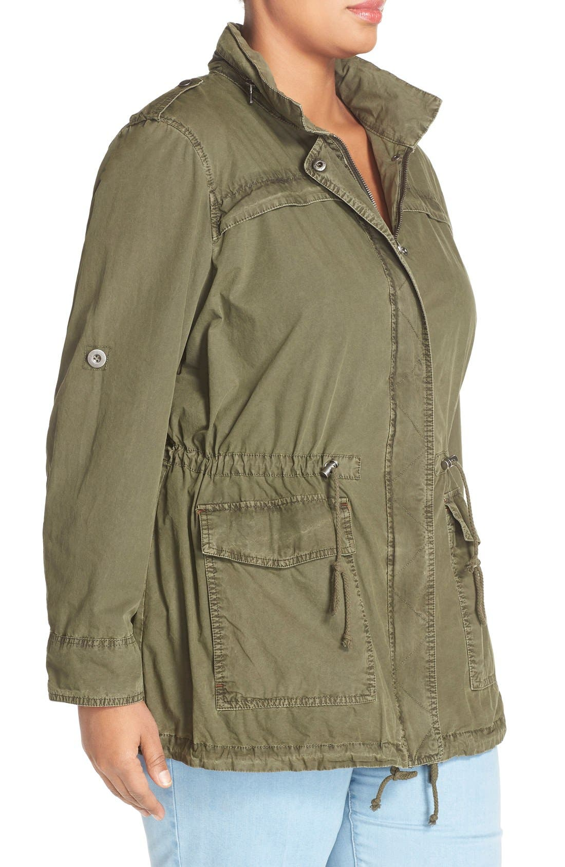 Parachute Hooded Cotton Utility Jacket,                             Alternate thumbnail 9, color,