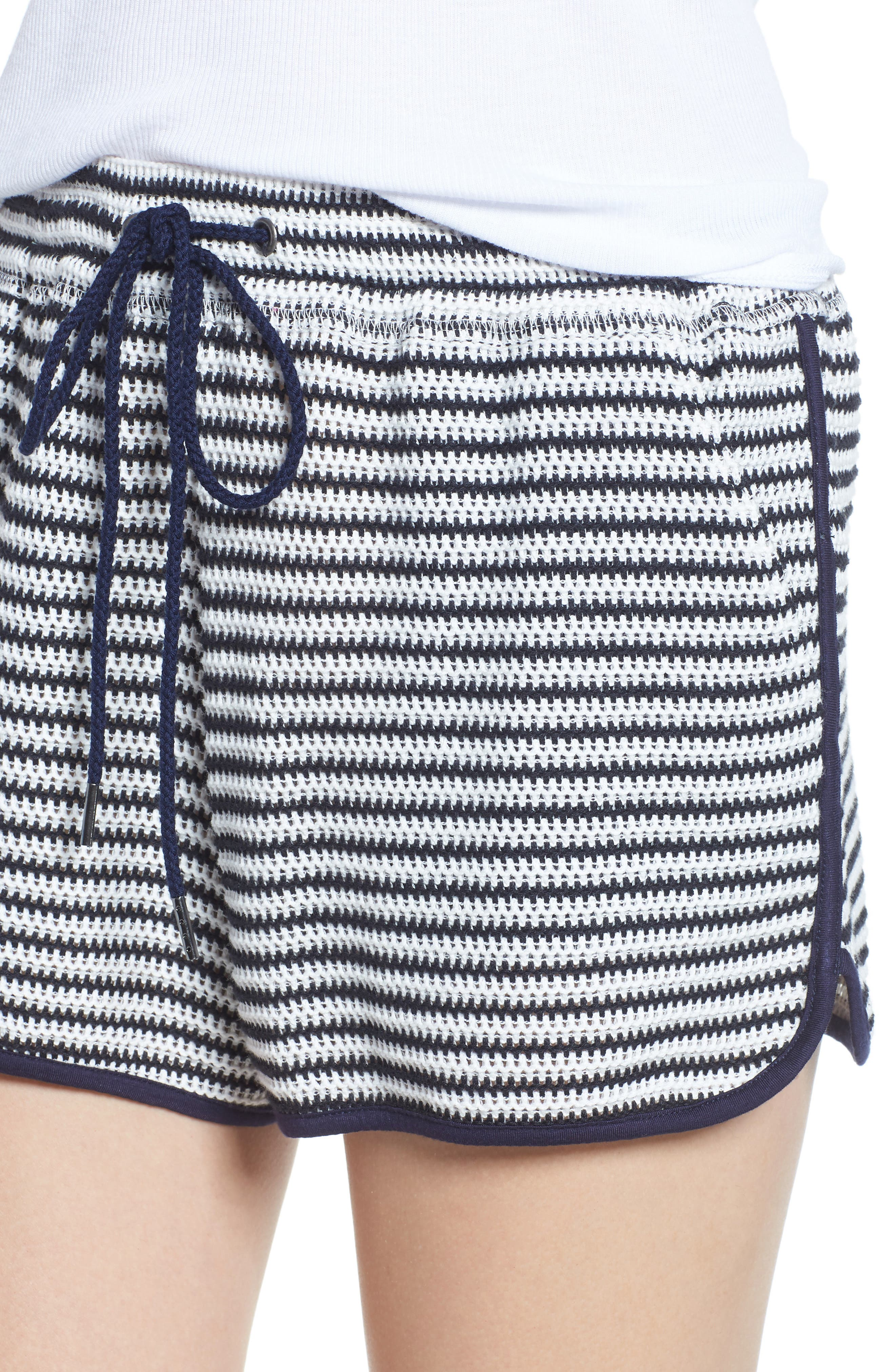Stripe Shorts,                             Alternate thumbnail 4, color,                             NAVY/ WHITE