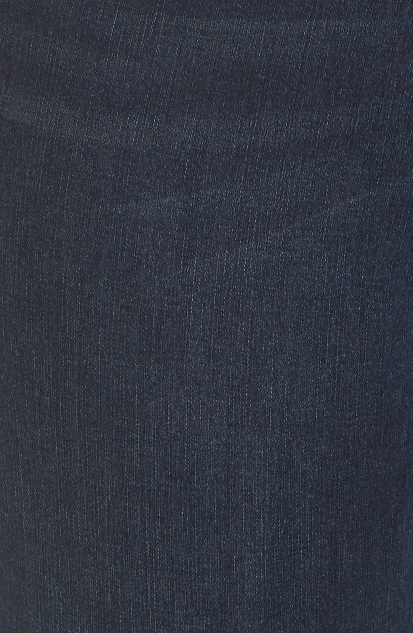 Snap Hem Pencil Jeans,                             Alternate thumbnail 5, color,                             408