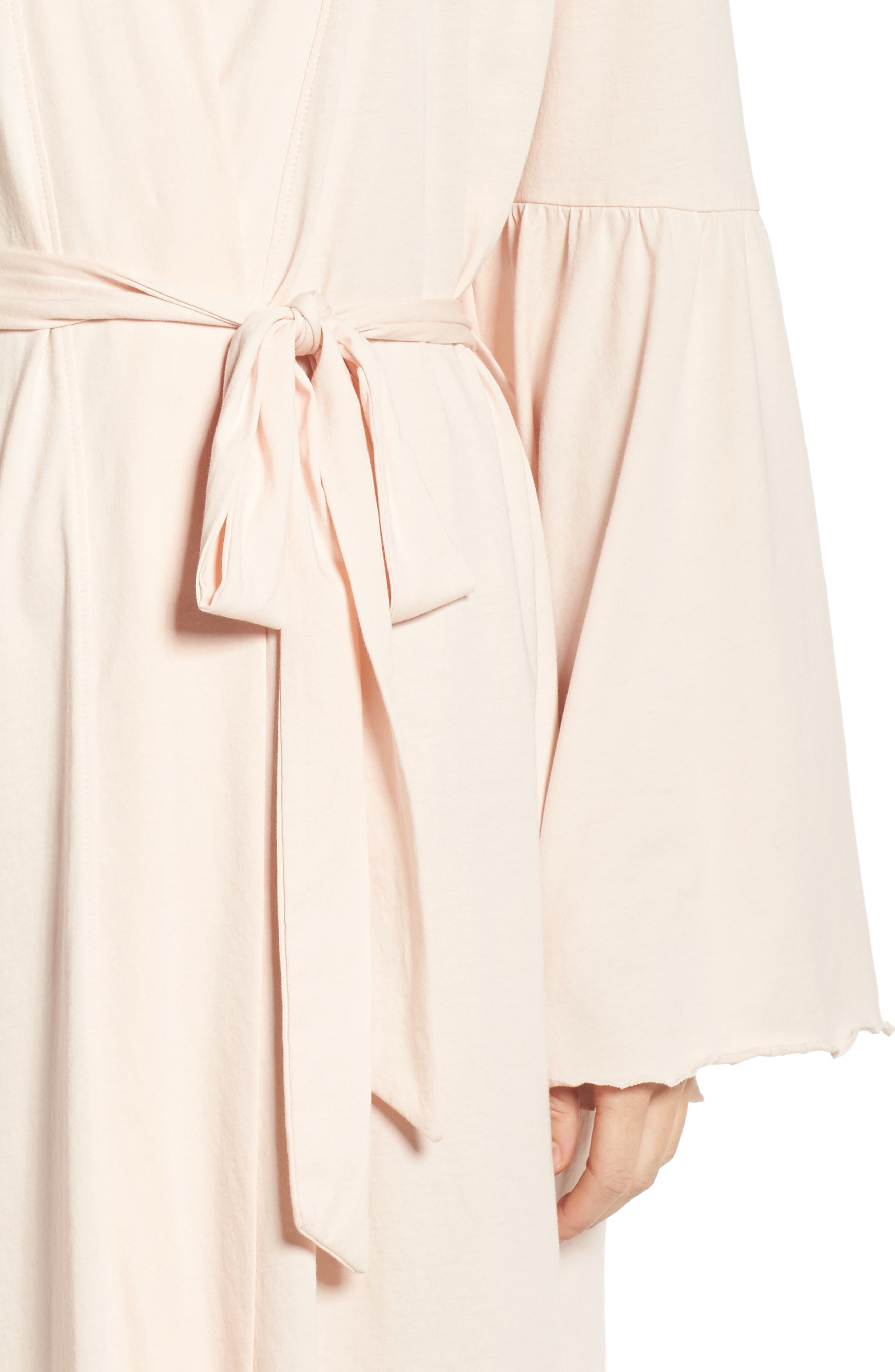 Pima Cotton Robe,                             Alternate thumbnail 4, color,