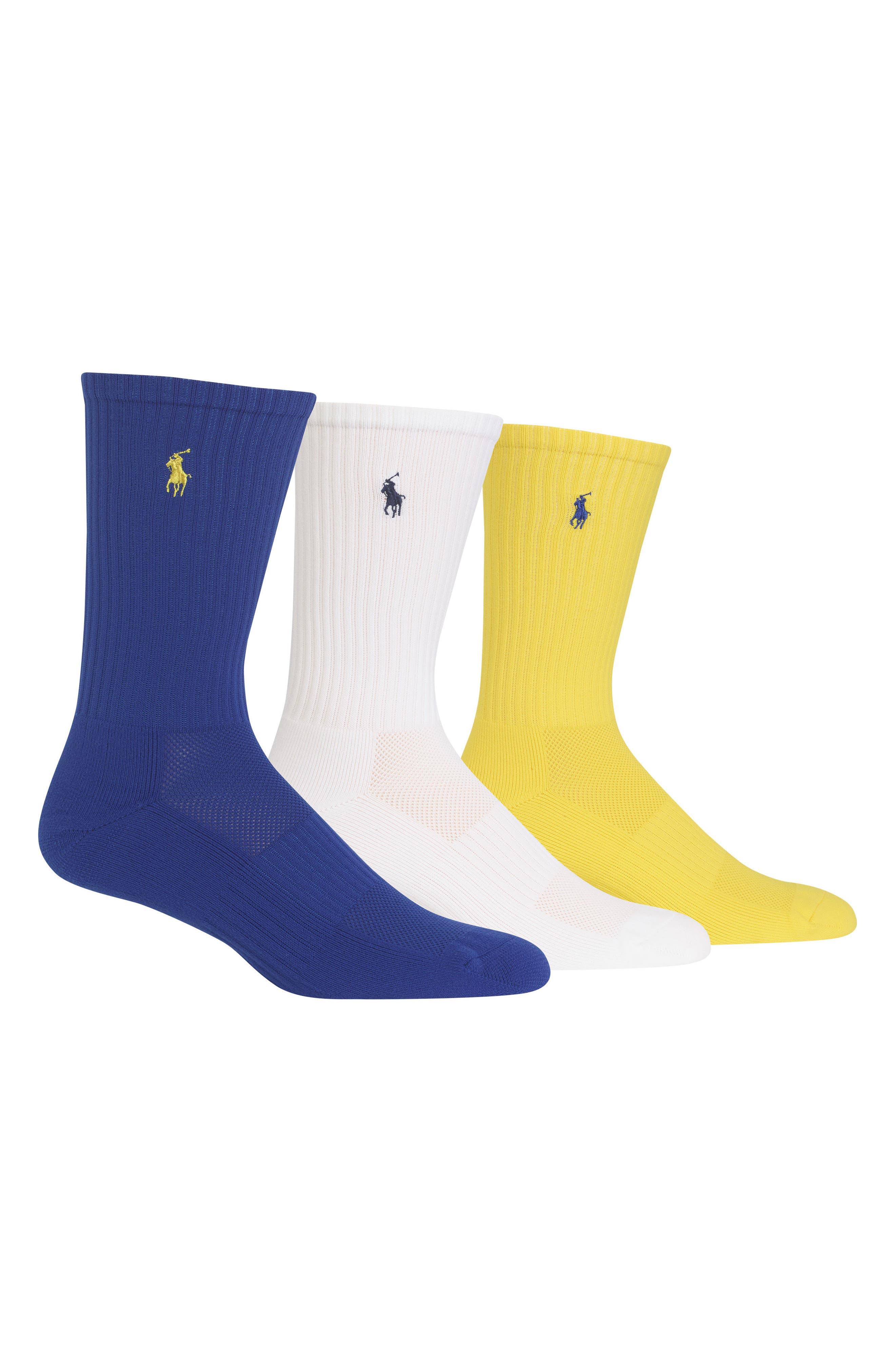 Tech Athletic Crew Socks,                             Main thumbnail 2, color,