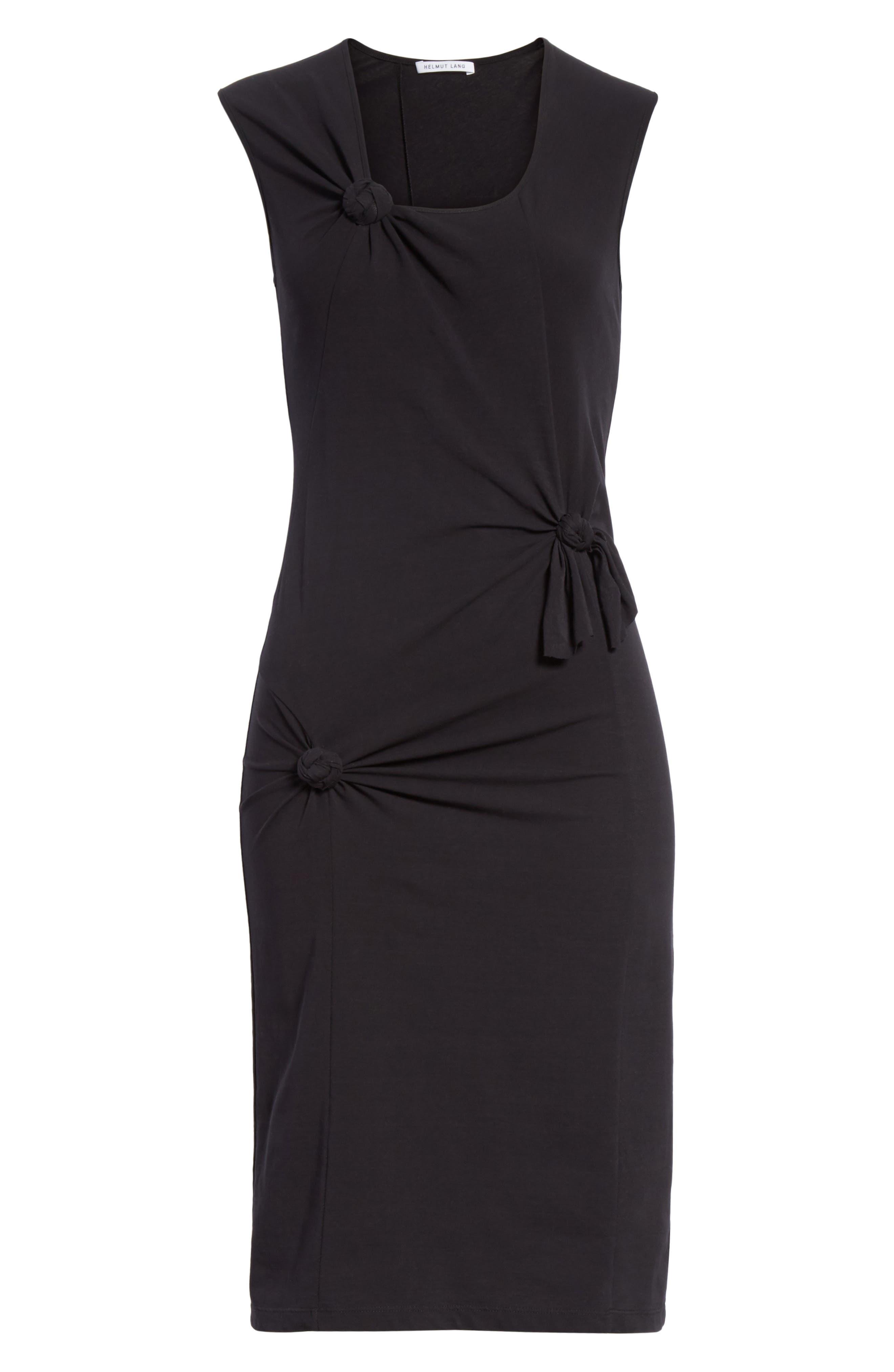 Knot Detail Dress,                             Alternate thumbnail 6, color,                             001