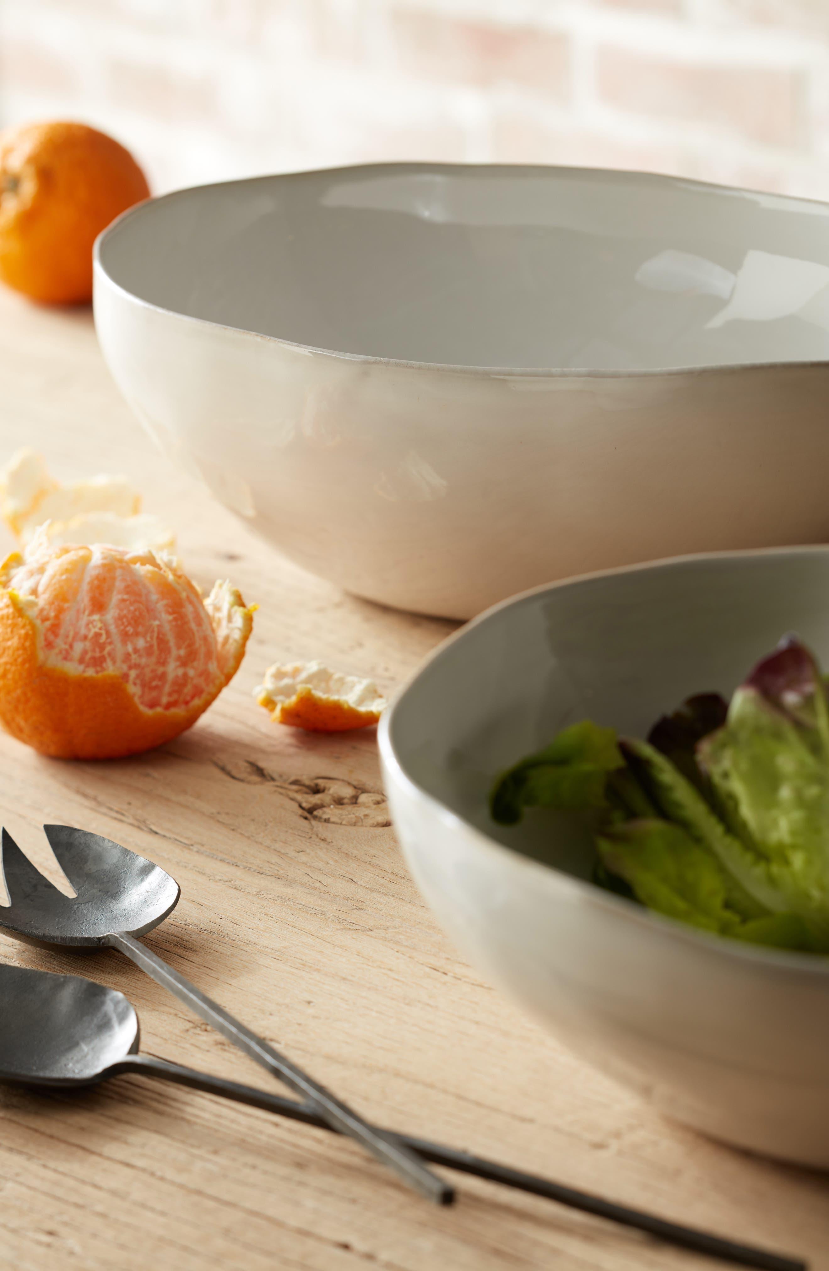 TREASURE & BOND,                             Medium Ceramic Serving Bowl,                             Alternate thumbnail 2, color,                             WHITE