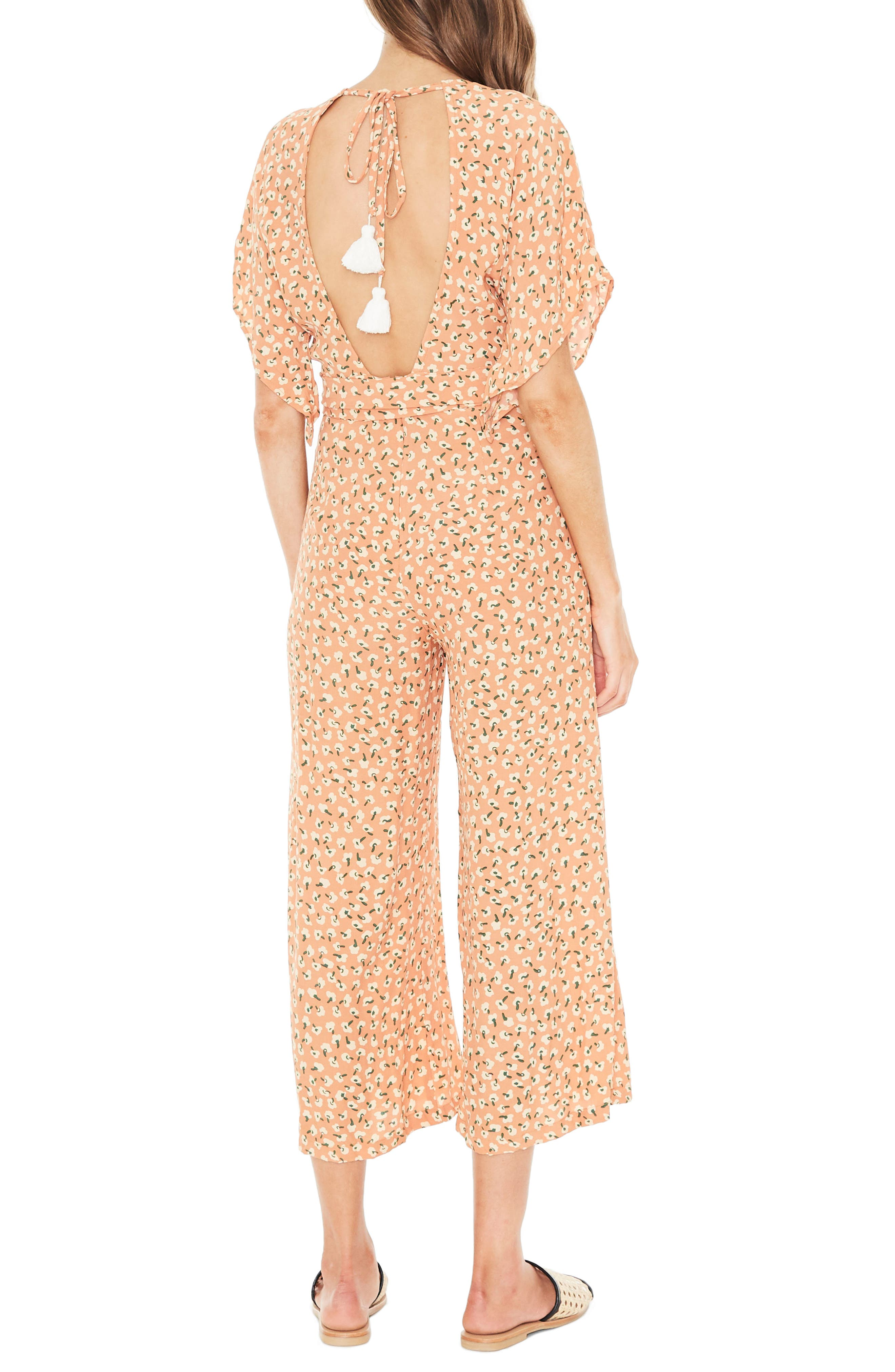 Cedric Plunging Crop Jumpsuit,                             Alternate thumbnail 2, color,                             800
