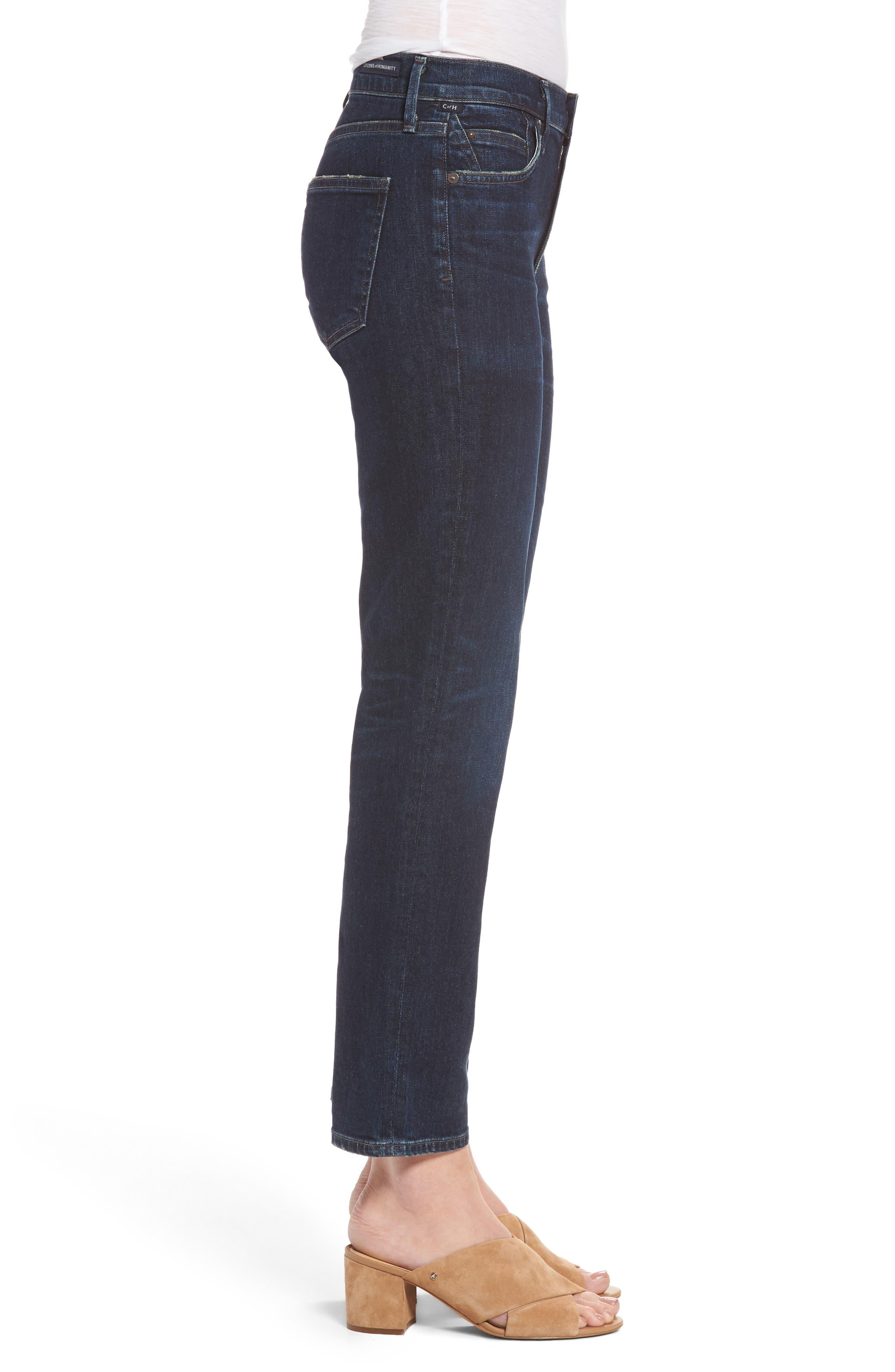 Cara Ankle Cigarette Jeans,                             Alternate thumbnail 3, color,                             401