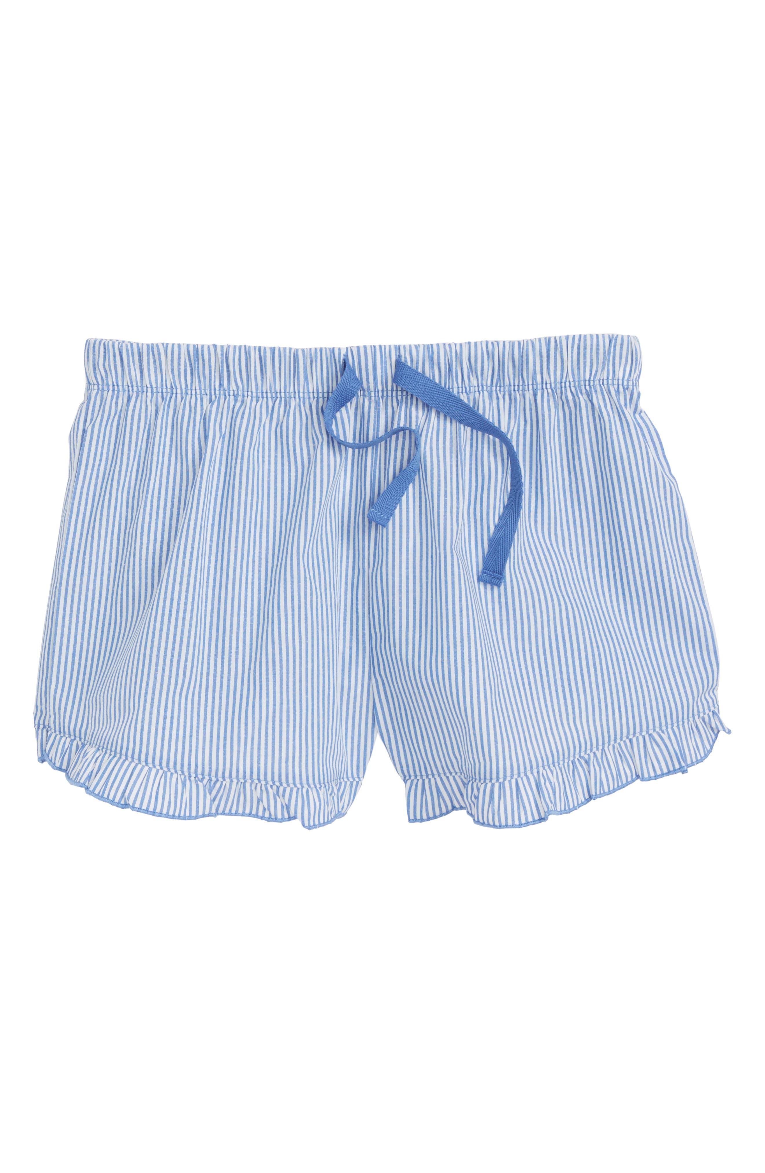 Ruffle Pajama Shorts,                             Main thumbnail 1, color,                             100