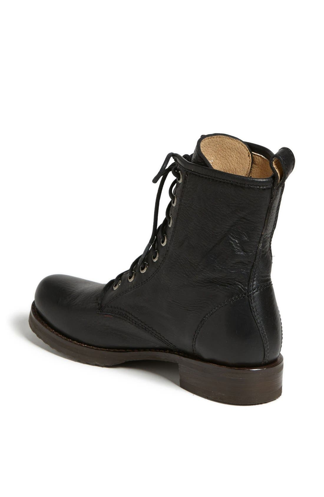 'Veronica Combat' Boot,                             Alternate thumbnail 2, color,                             BLACK