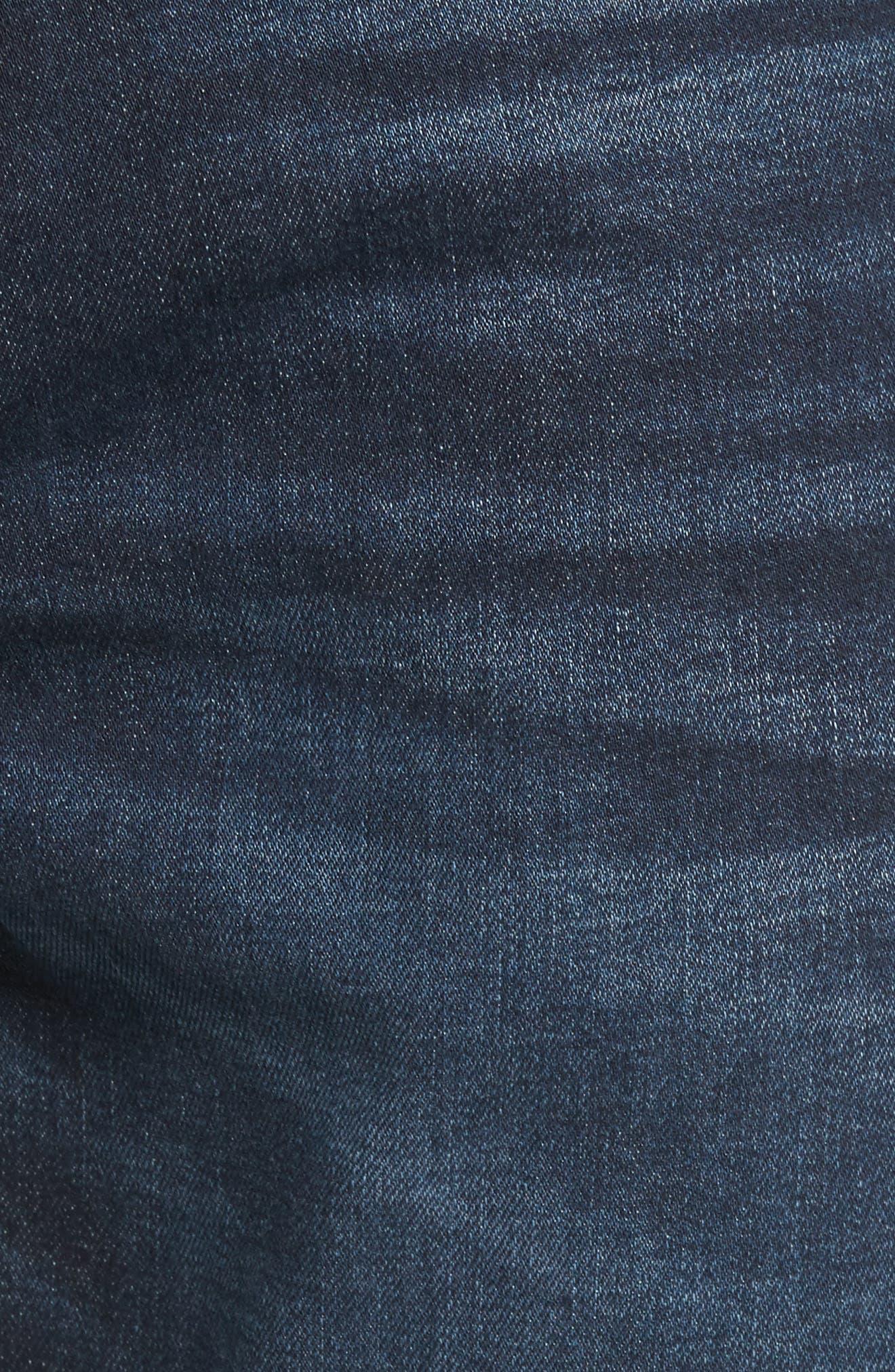 Slim Straight Leg Jeans,                             Alternate thumbnail 5, color,                             400