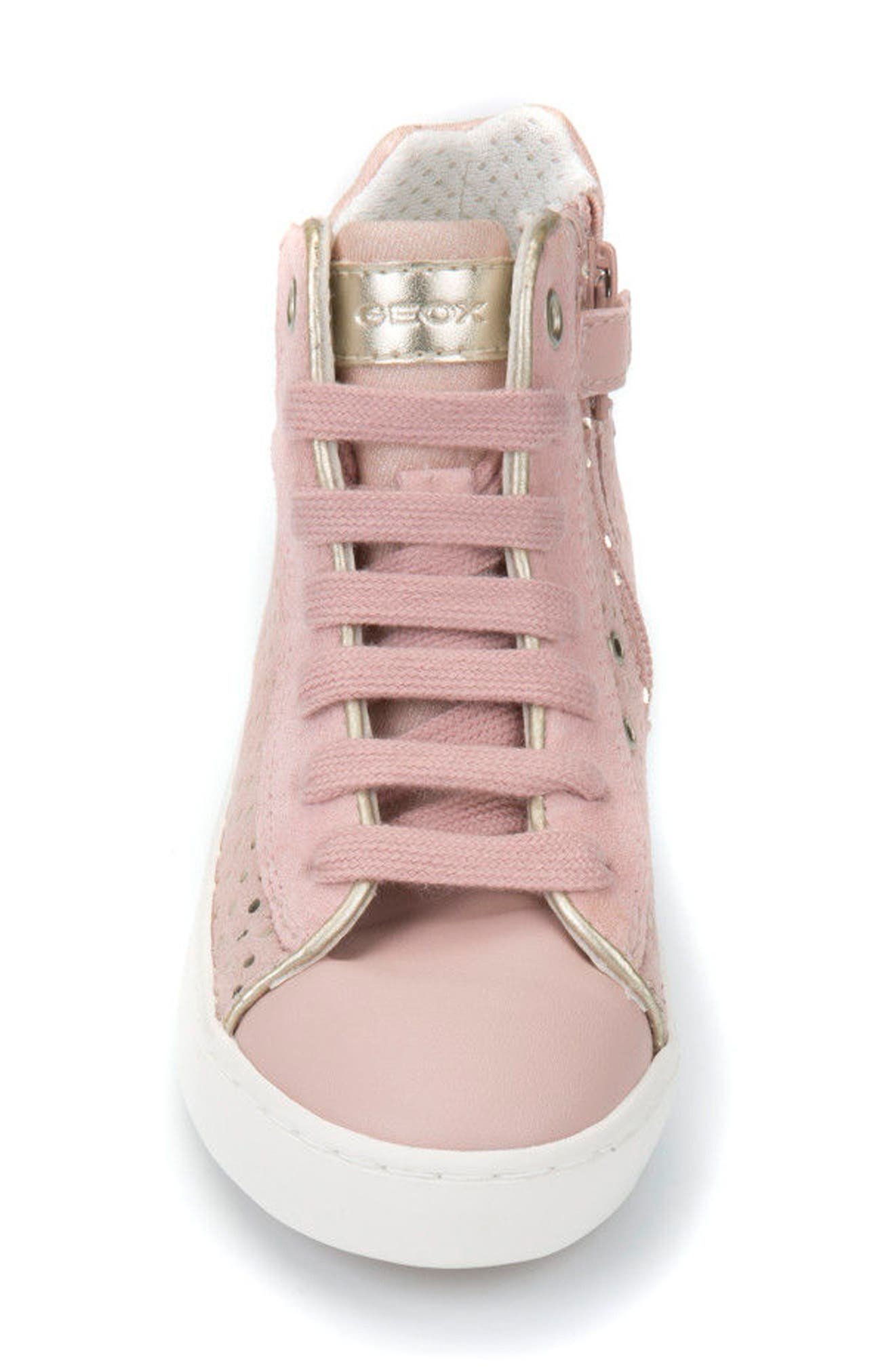 Kilwi High Top Zip Sneaker,                             Alternate thumbnail 4, color,                             ROSE