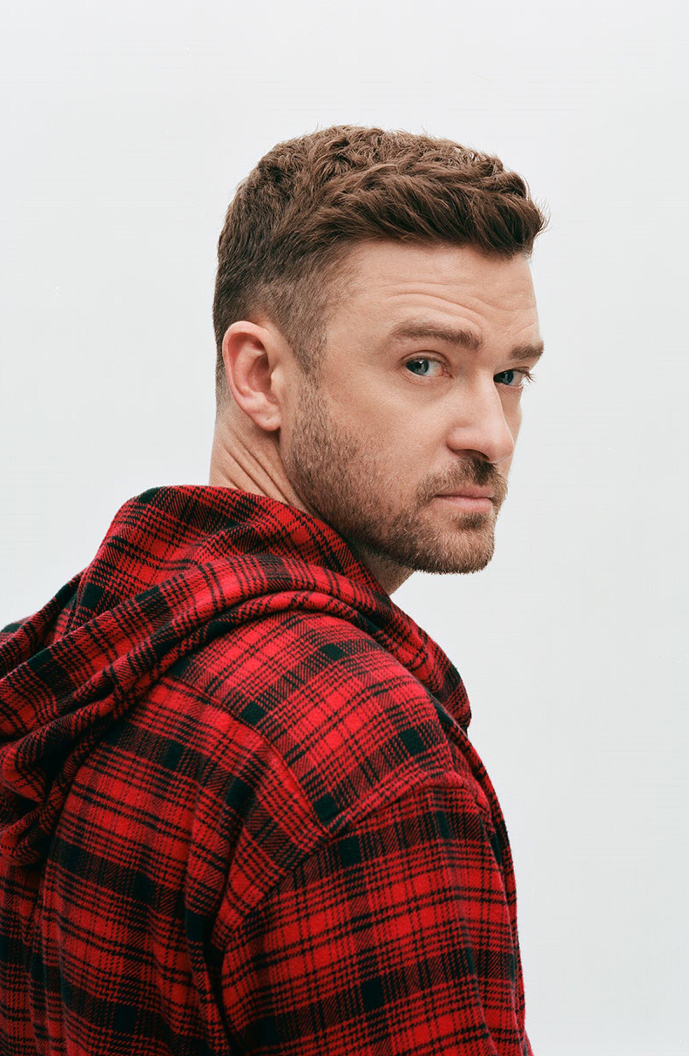 x Justin Timberlake Hooded Flannel Worker Shirt,                             Alternate thumbnail 2, color,                             SERVAL CRIMSON