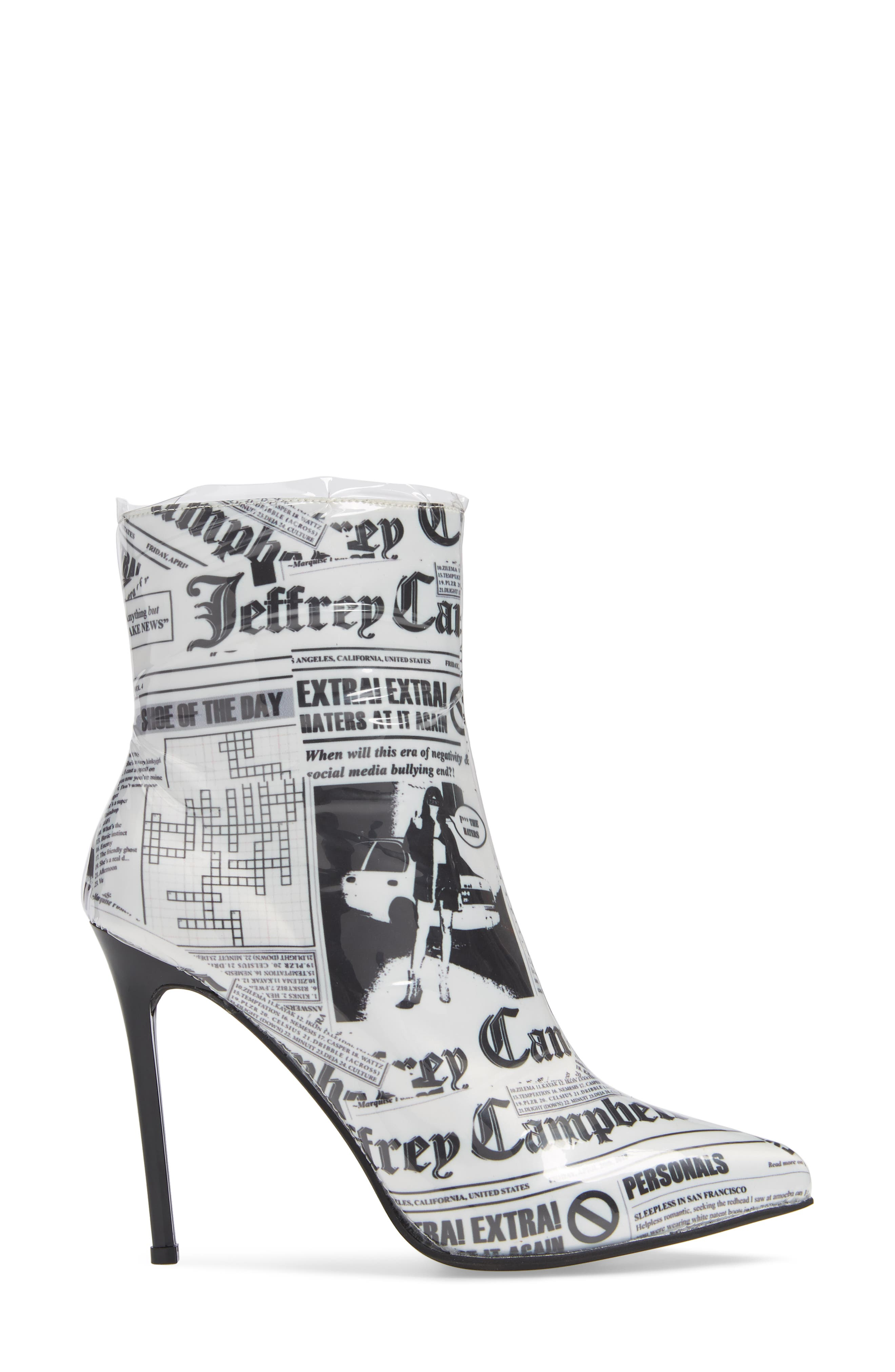 Achava-2P Bootie,                             Alternate thumbnail 3, color,                             NEWSPAPER PRINT CLEAR
