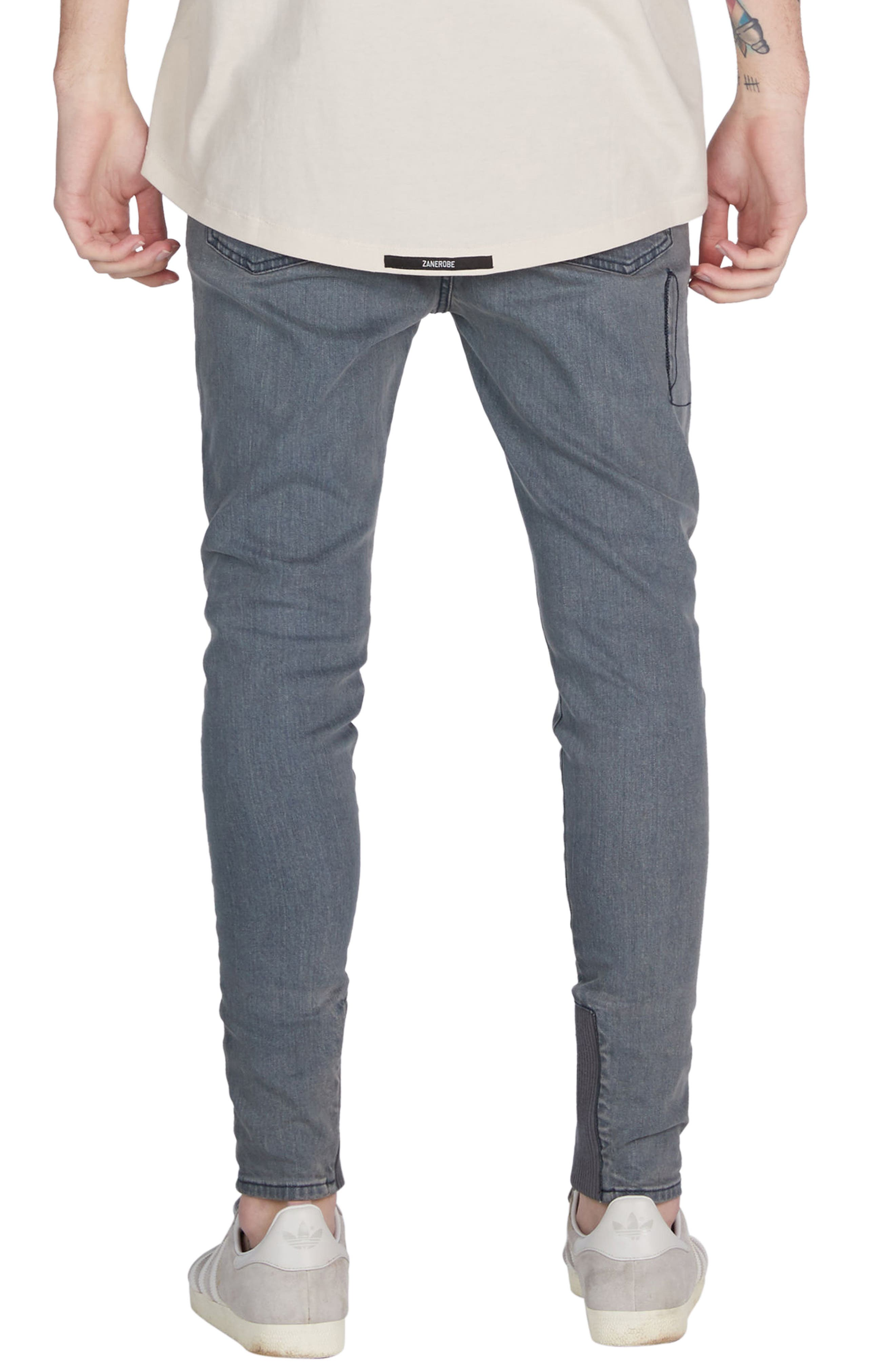 Sharpshot Slouchy Skinny Fit Denim Pants,                             Alternate thumbnail 2, color,                             420