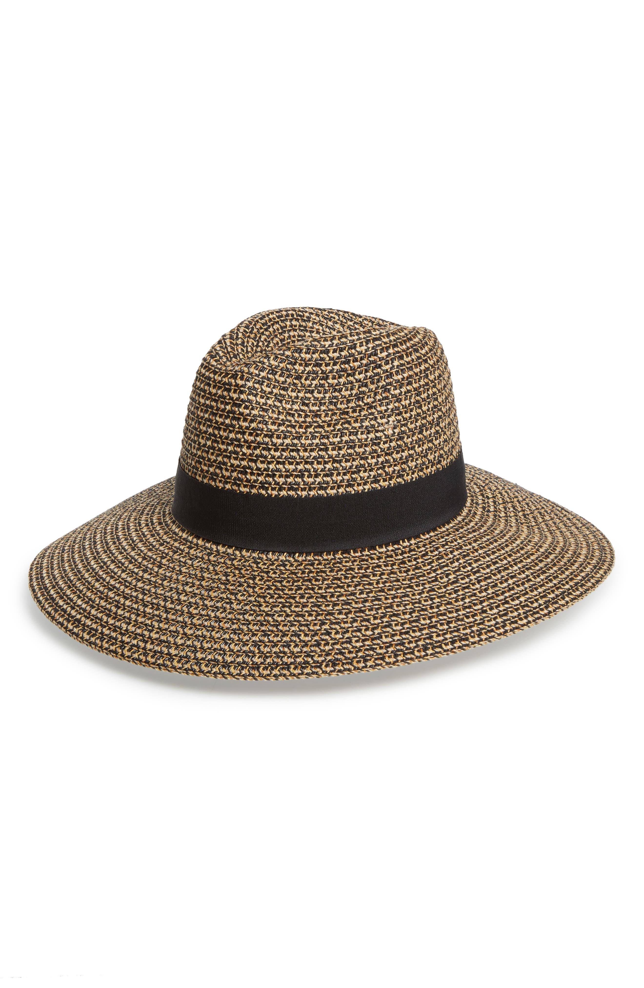 Woven Straw Sun Hat,                             Main thumbnail 1, color,                             005