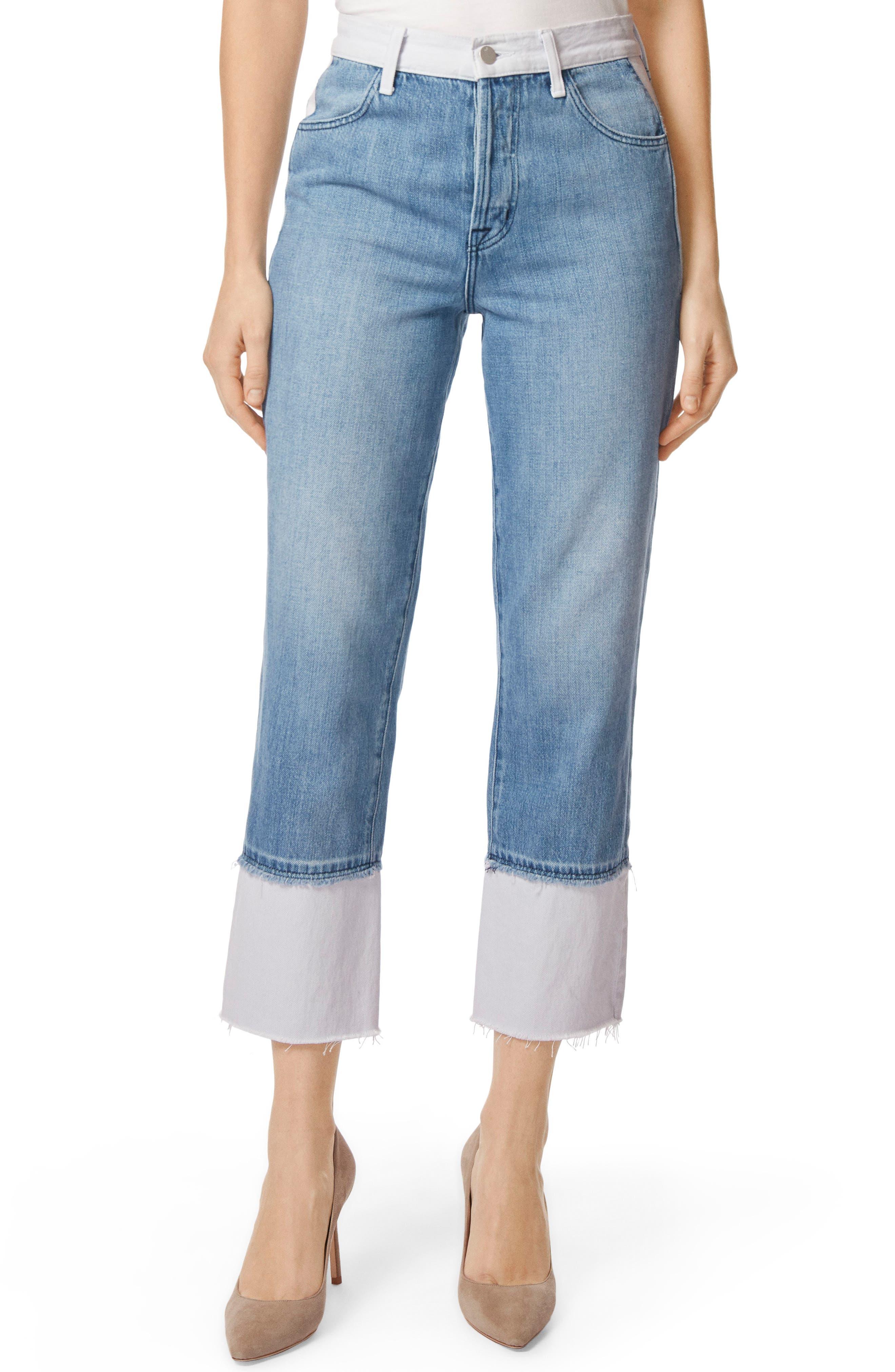 Wynne High Waist Crop Straight Leg Jeans,                         Main,                         color, 450
