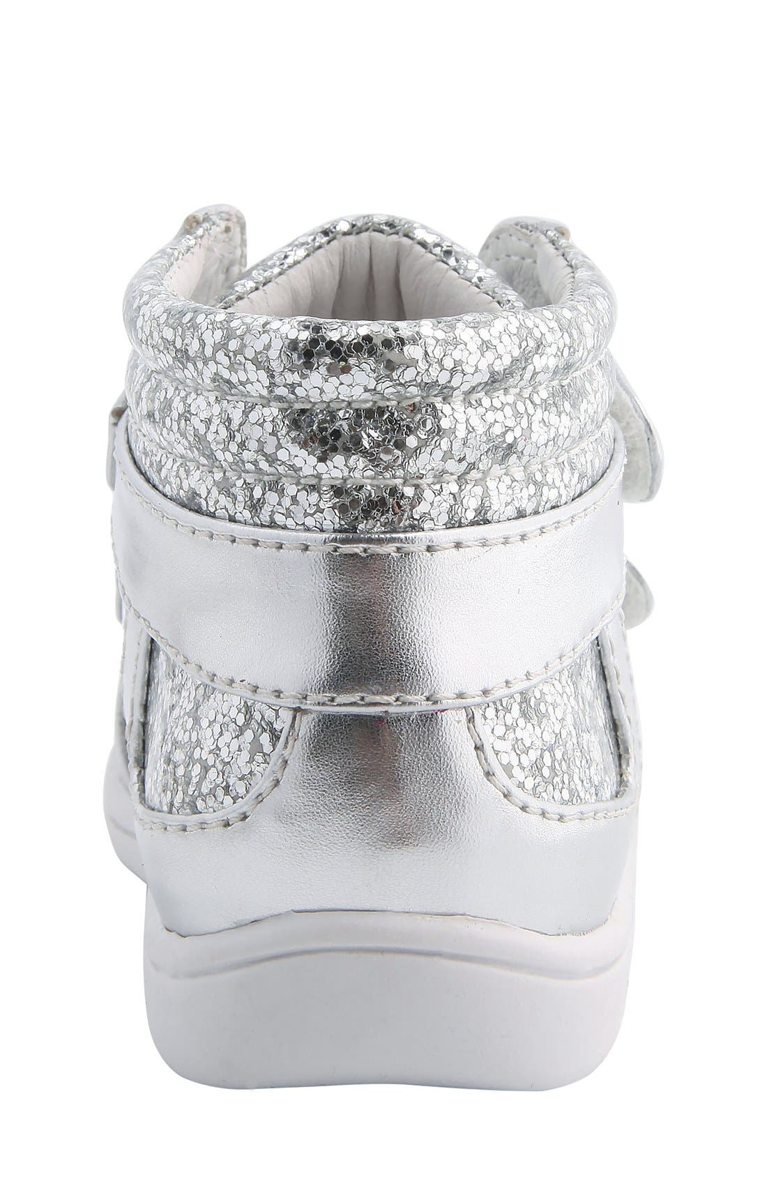 Nina 'Stardust' Metallic High Top Sneaker,                             Alternate thumbnail 4, color,                             047