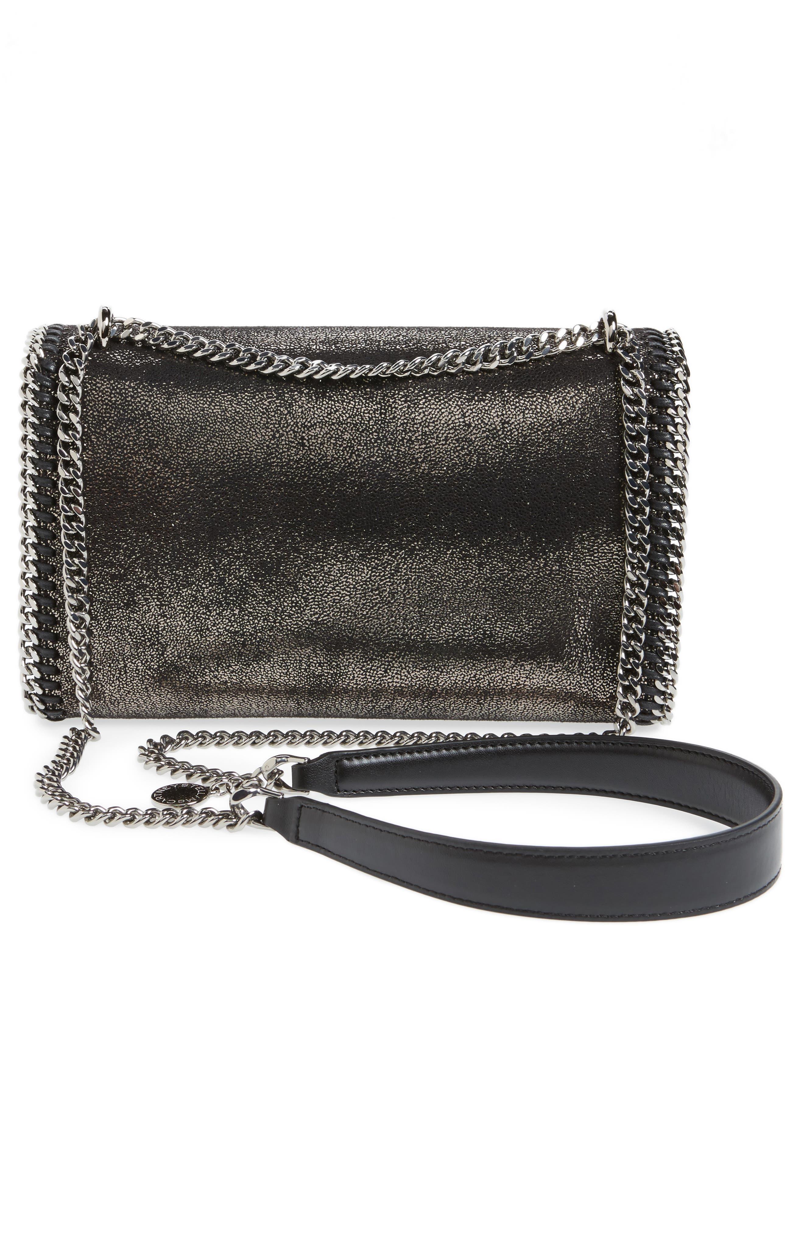 Faux Leather Flap Shoulder Bag,                             Alternate thumbnail 3, color,                             041
