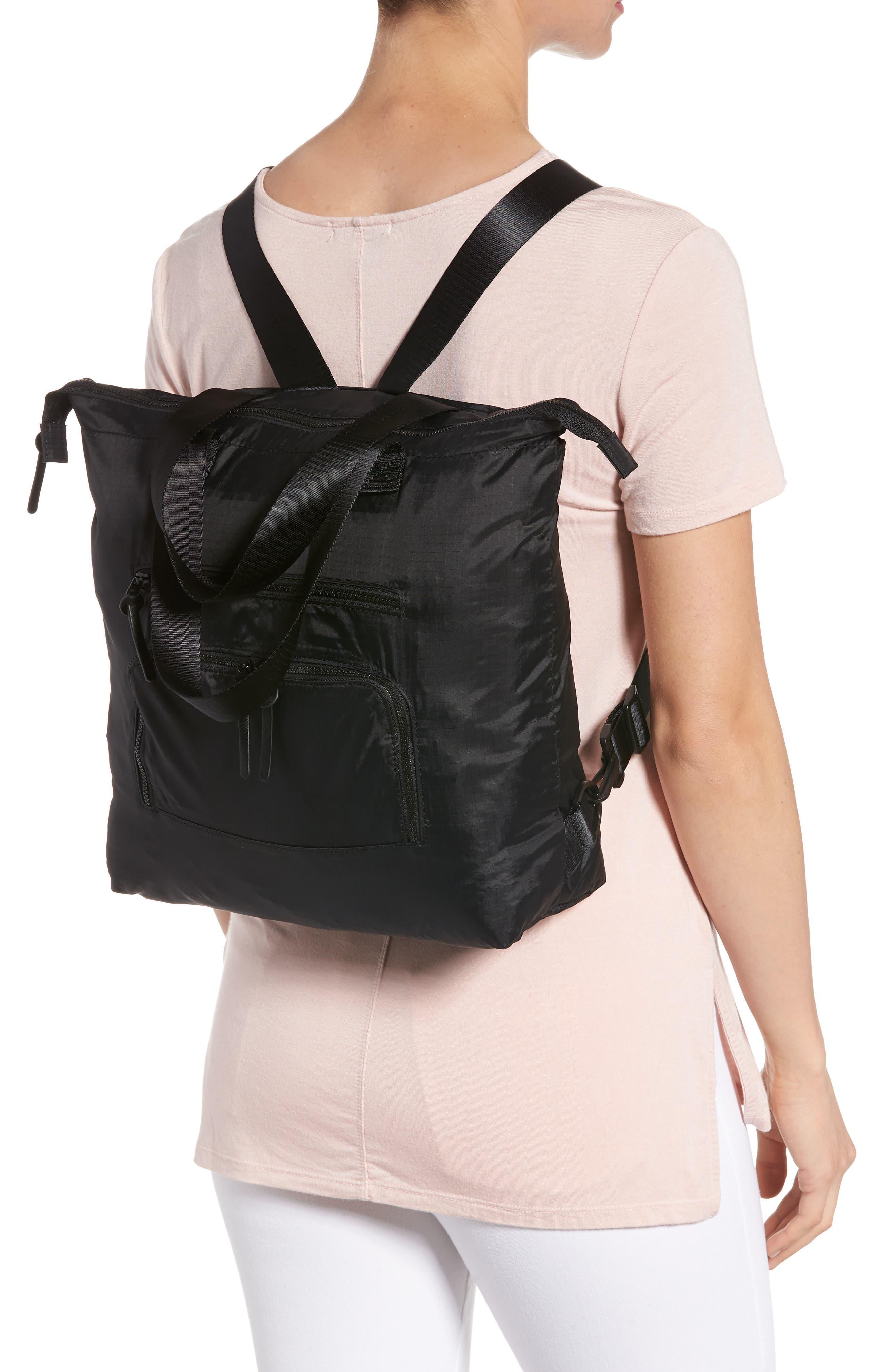 Packable Convertible Backpack,                             Alternate thumbnail 2, color,                             BLACK