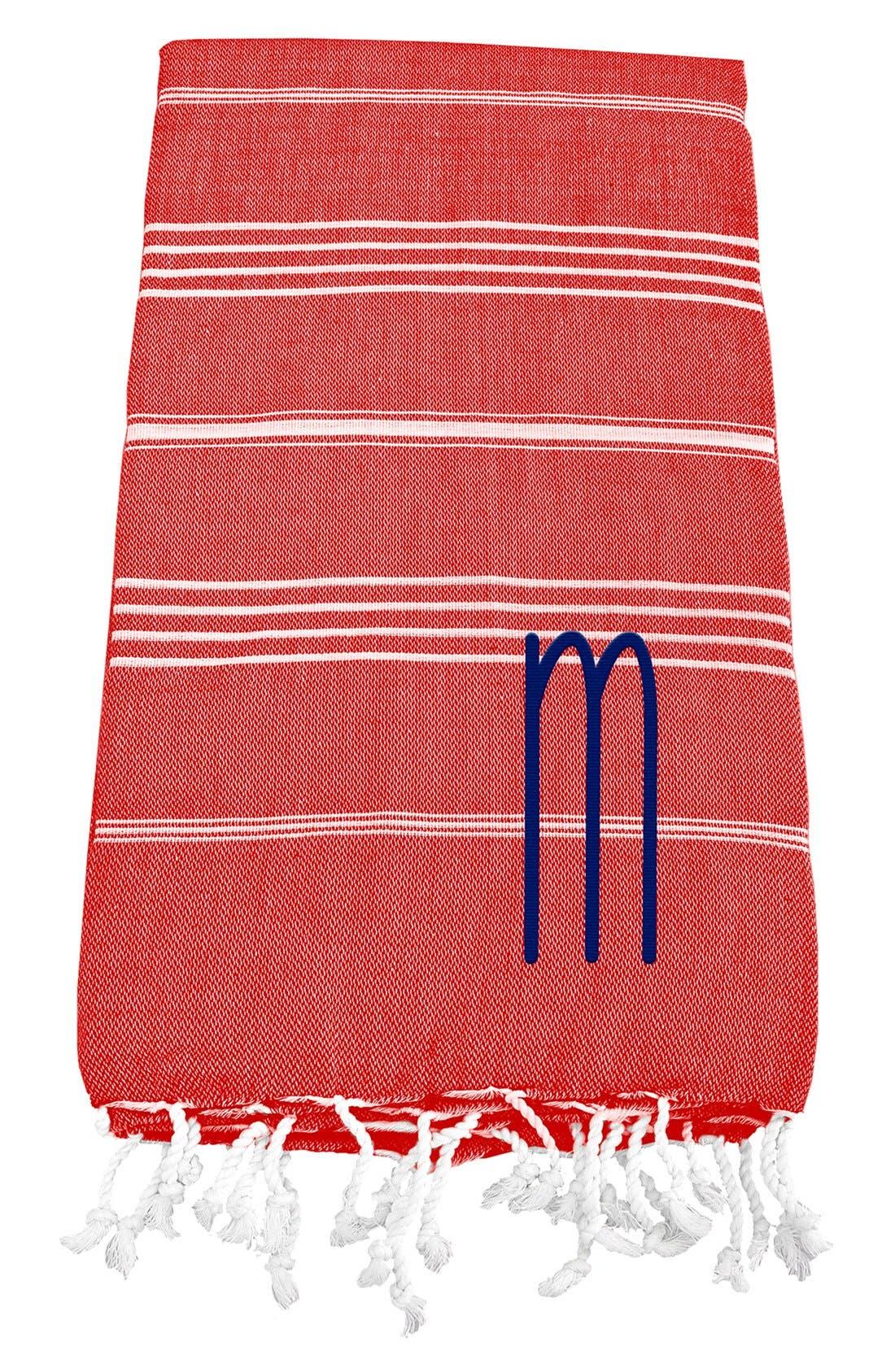 Monogram Turkish Cotton Towel,                             Main thumbnail 122, color,