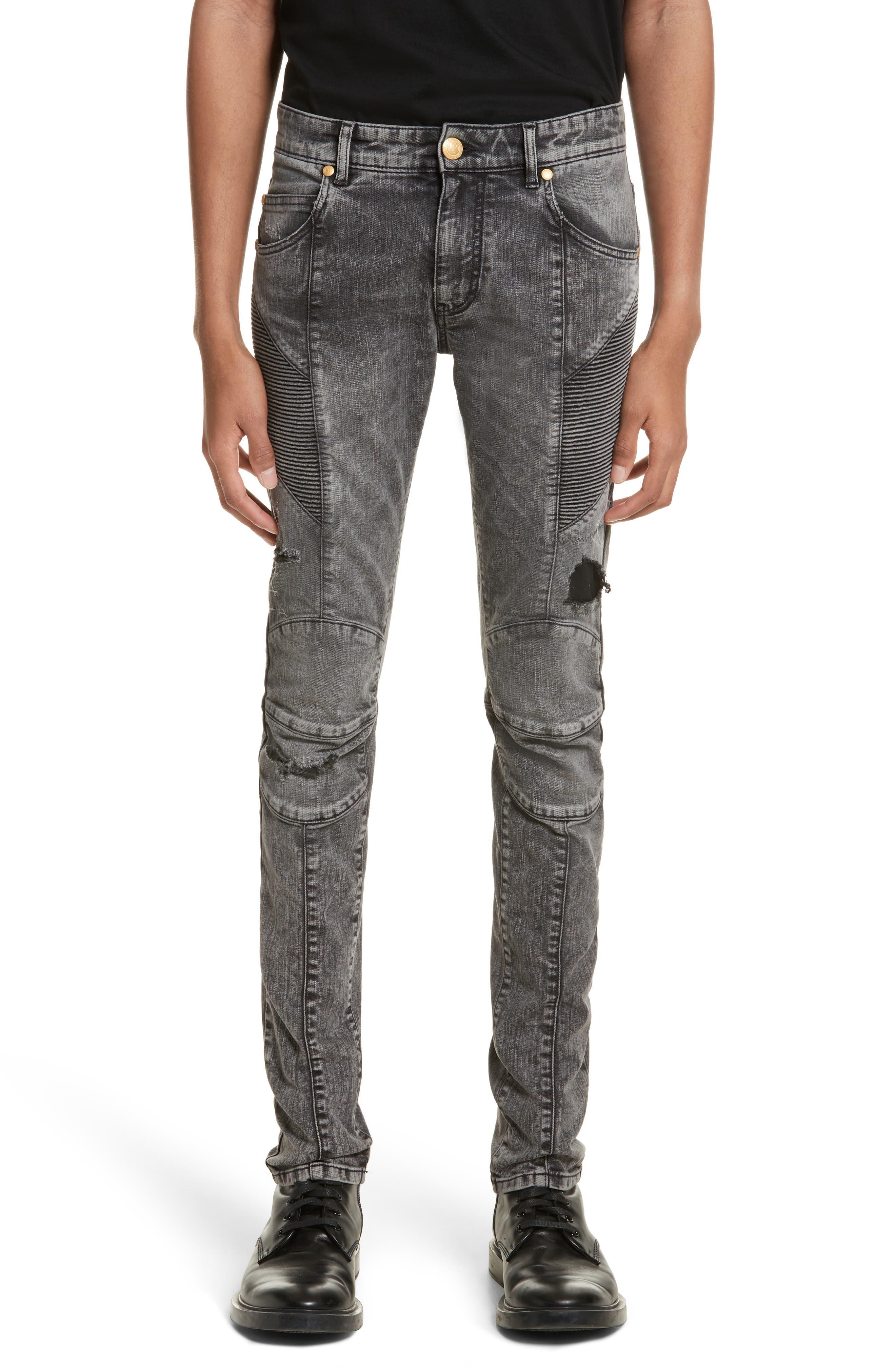 Destroyed Moto Jeans,                         Main,                         color, 001