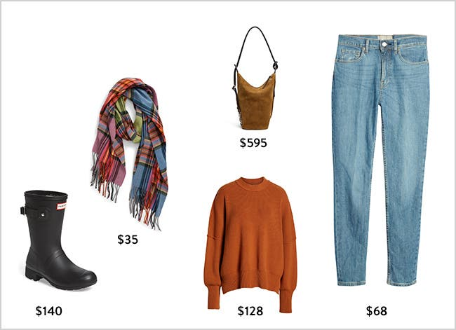 The pumpkin patch awaits: women's weekend clothing, shoes and accessories.