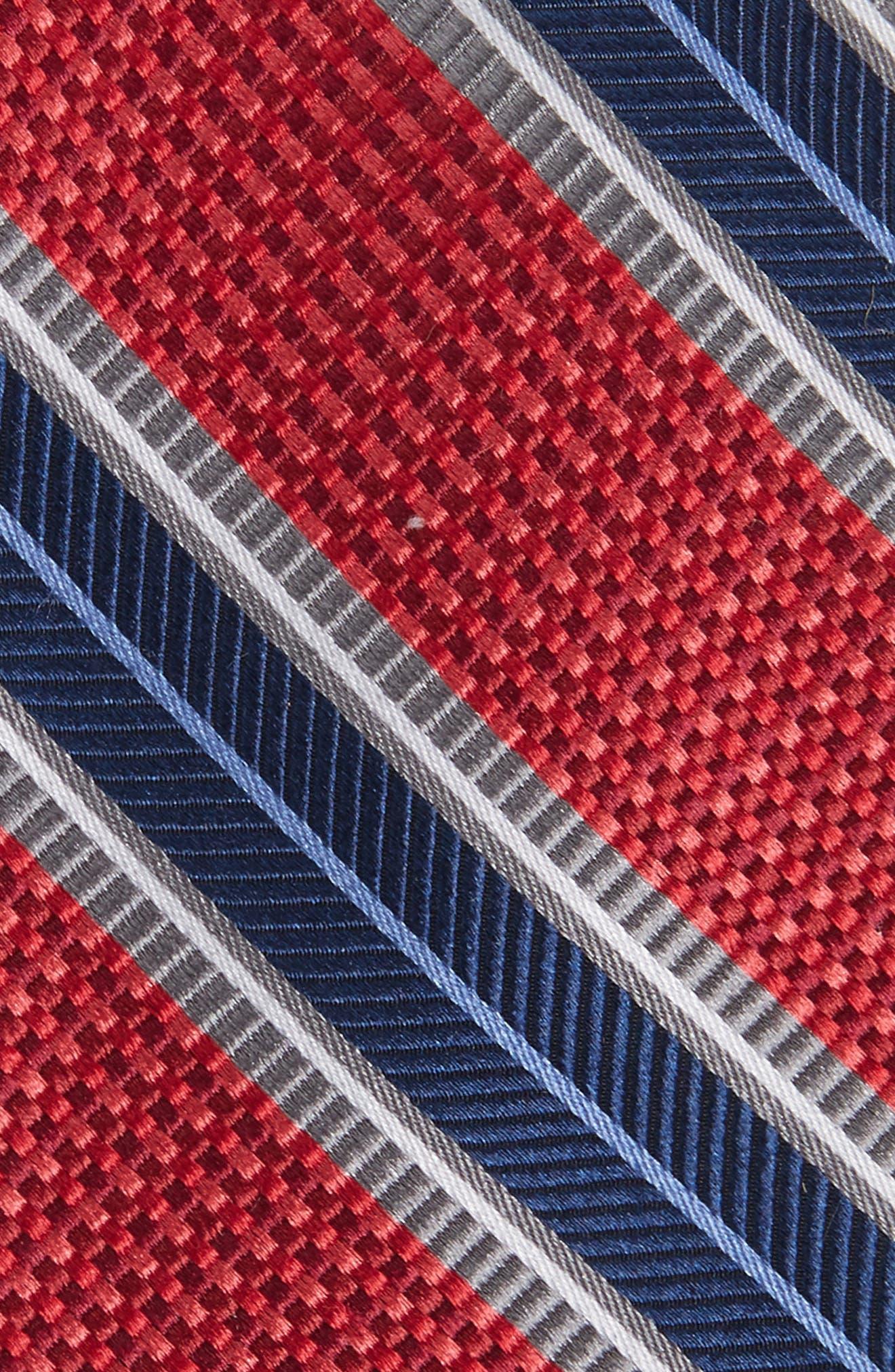 Textured Stripes Silk Tie,                             Alternate thumbnail 7, color,