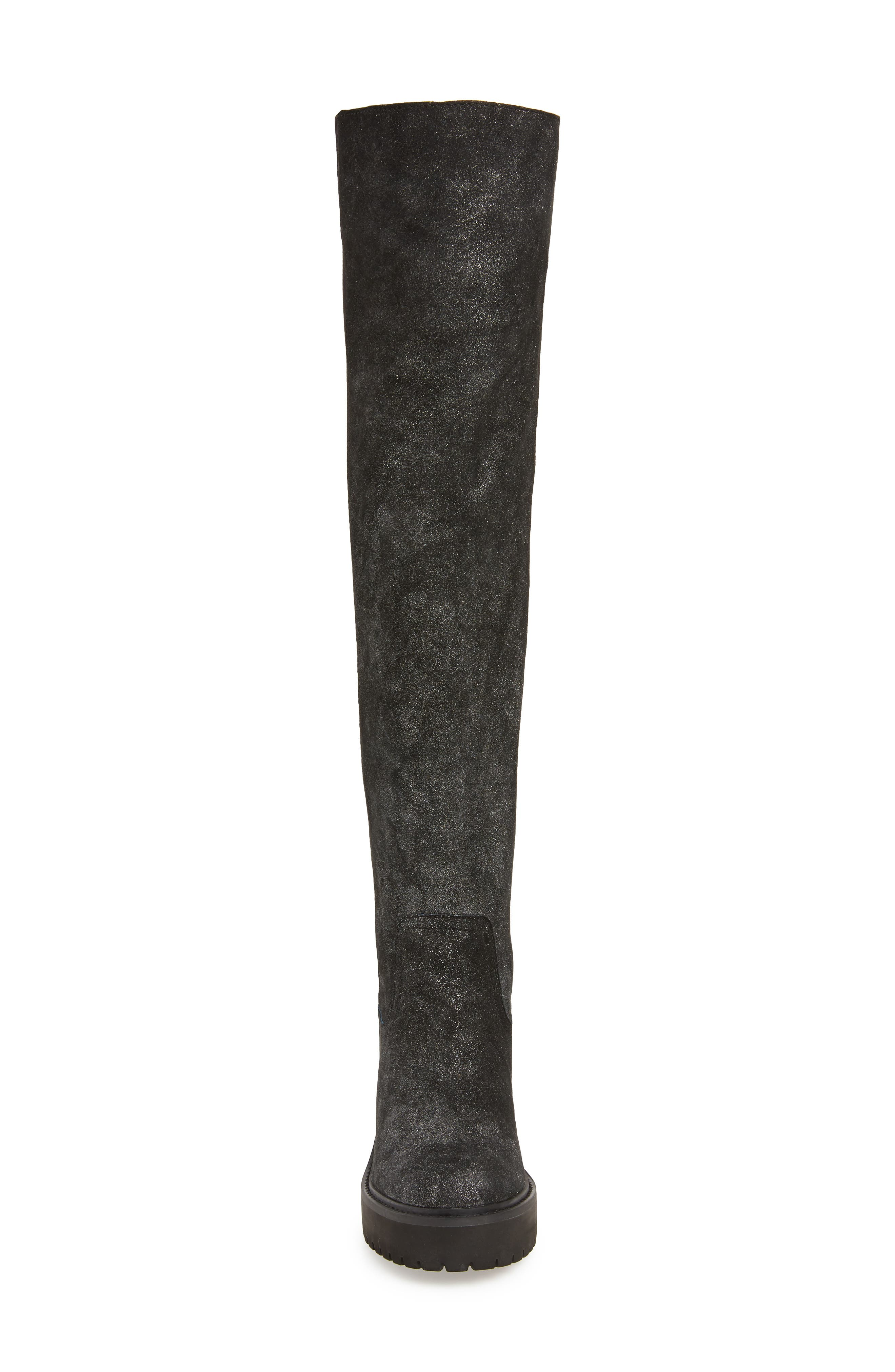 Lindy Over the Knee Boot,                             Alternate thumbnail 4, color,                             001