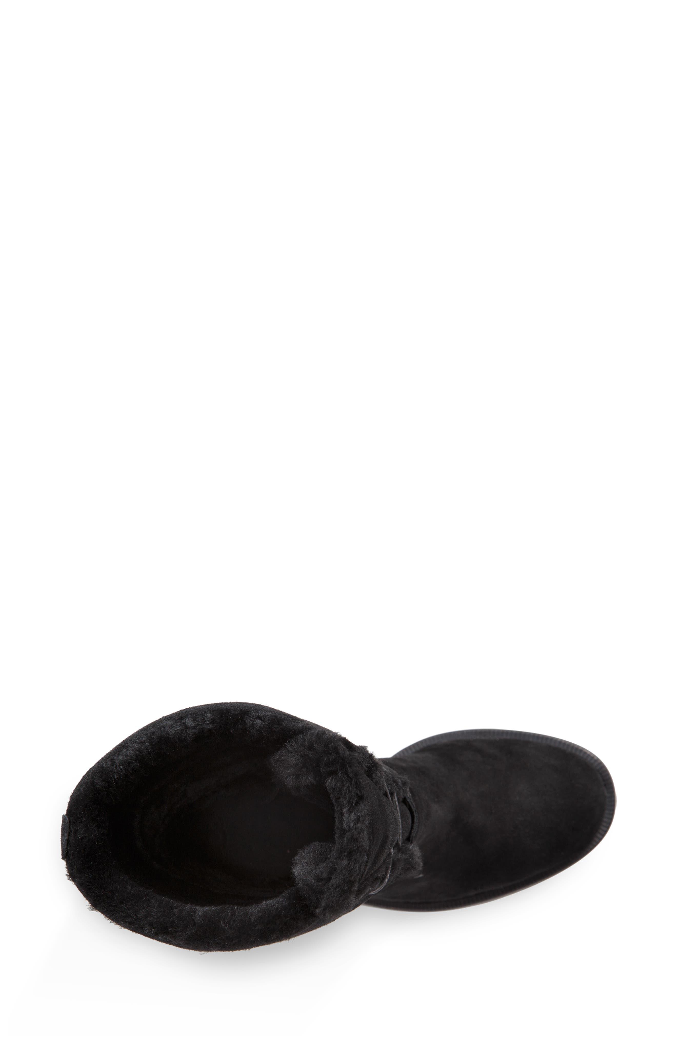 Jerene Genuine Shearling Boot,                             Alternate thumbnail 5, color,                             BLACK