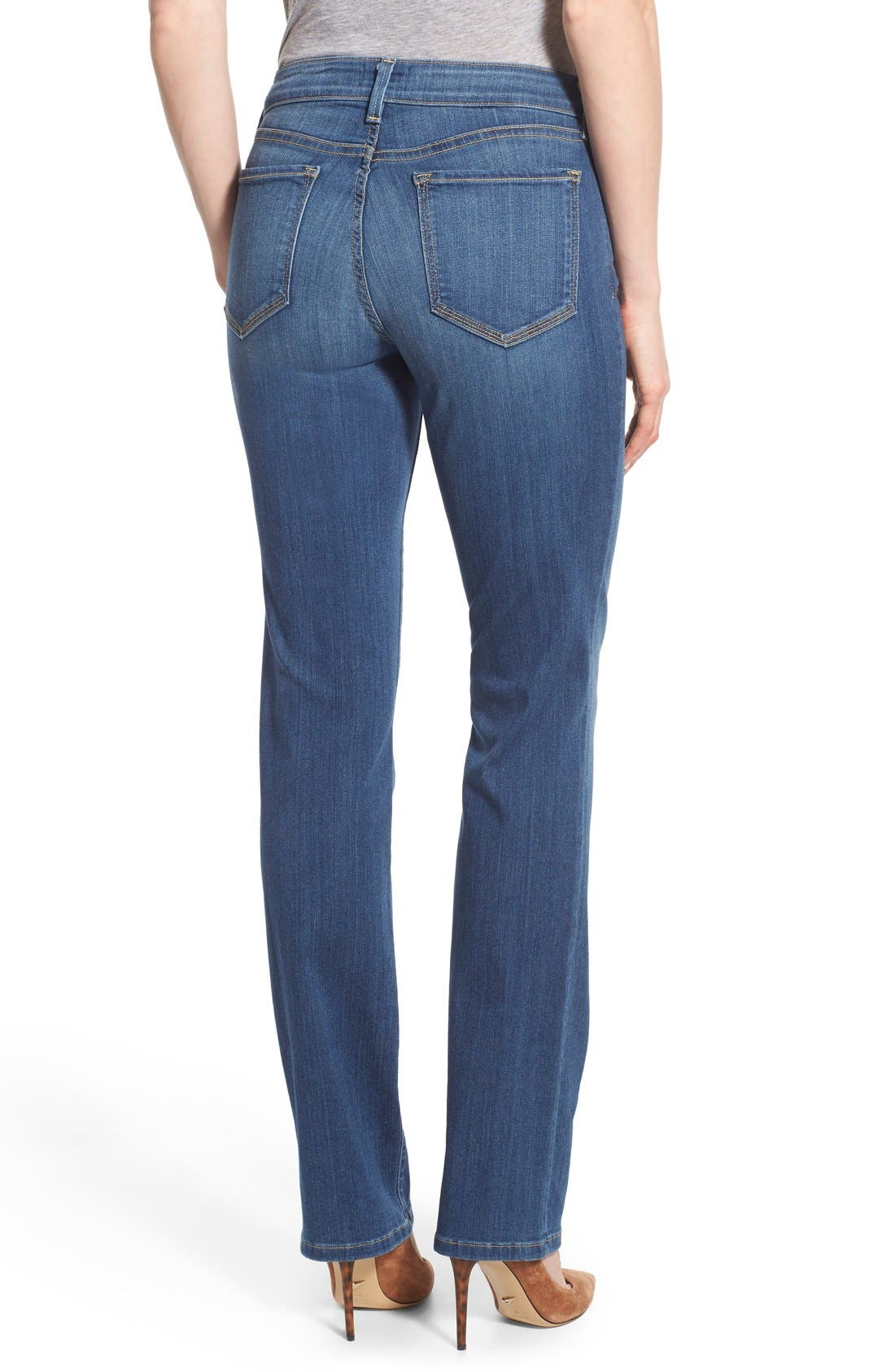 'Marilyn' Stretch Straight Leg Jeans,                             Alternate thumbnail 4, color,                             425