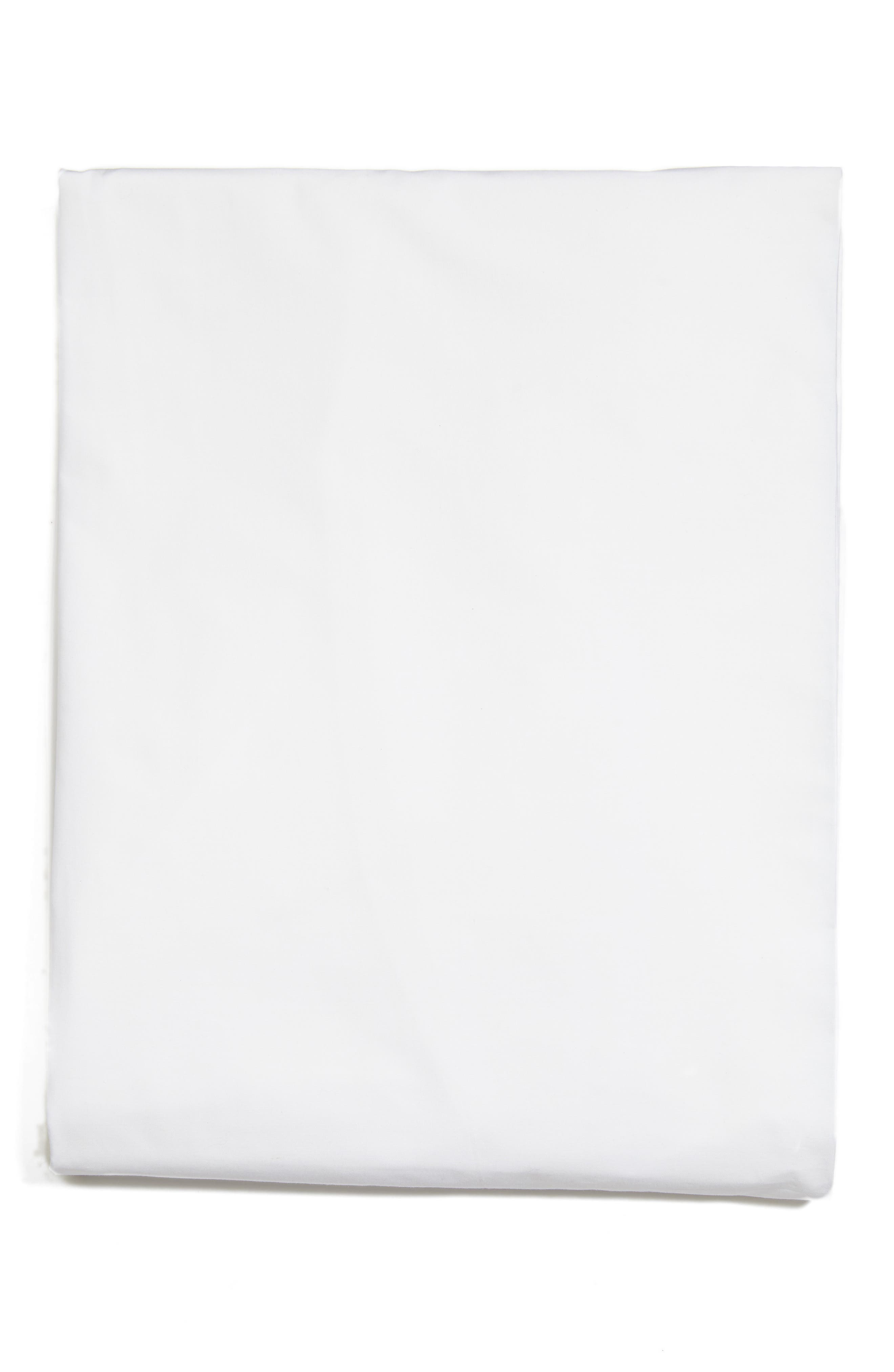 Grande Hotel Fitted Sheet,                             Main thumbnail 1, color,                             WHITE