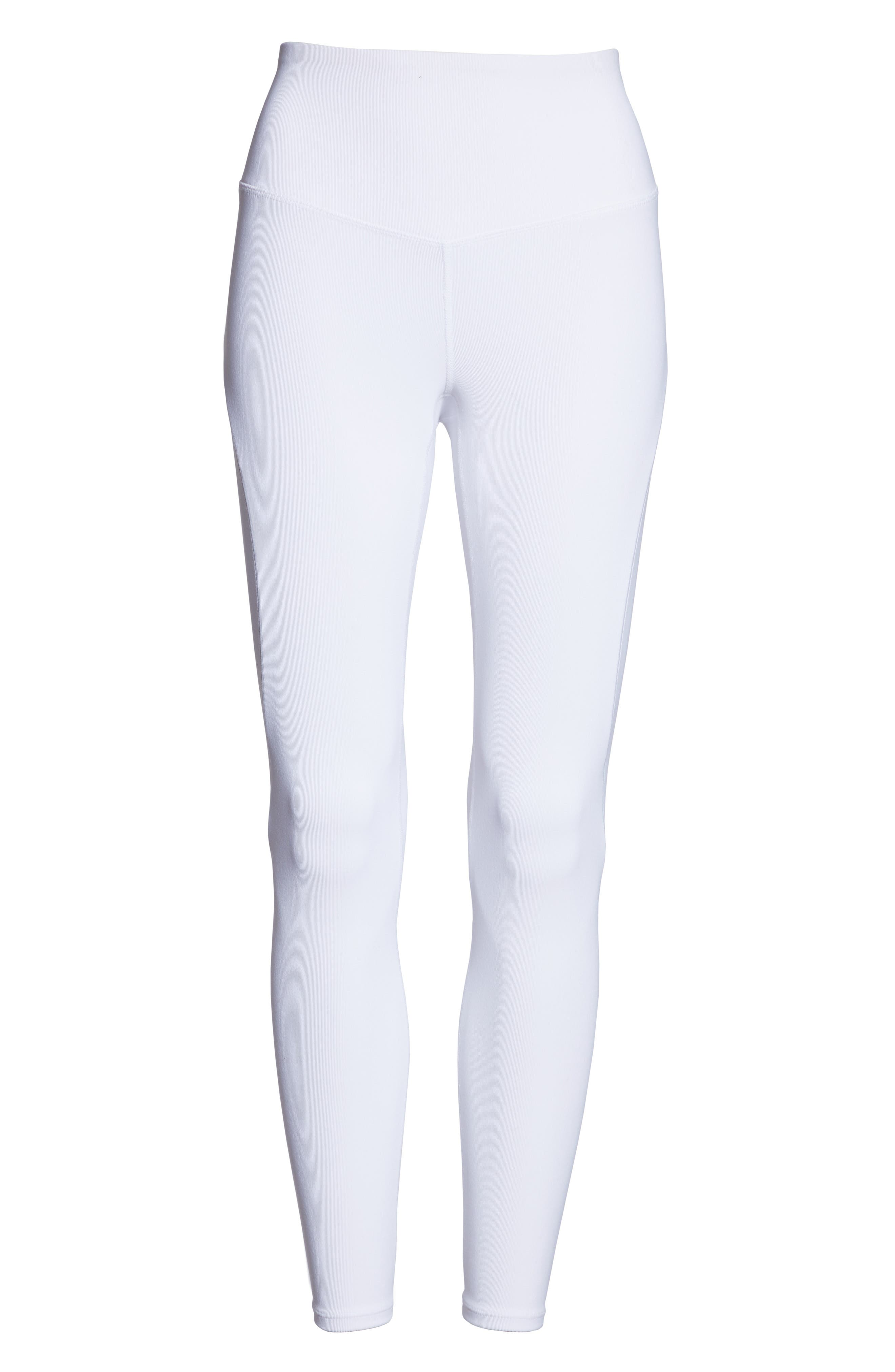 Free People FP Movement Formation High Waist Ankle Leggings,                             Alternate thumbnail 7, color,                             WHITE