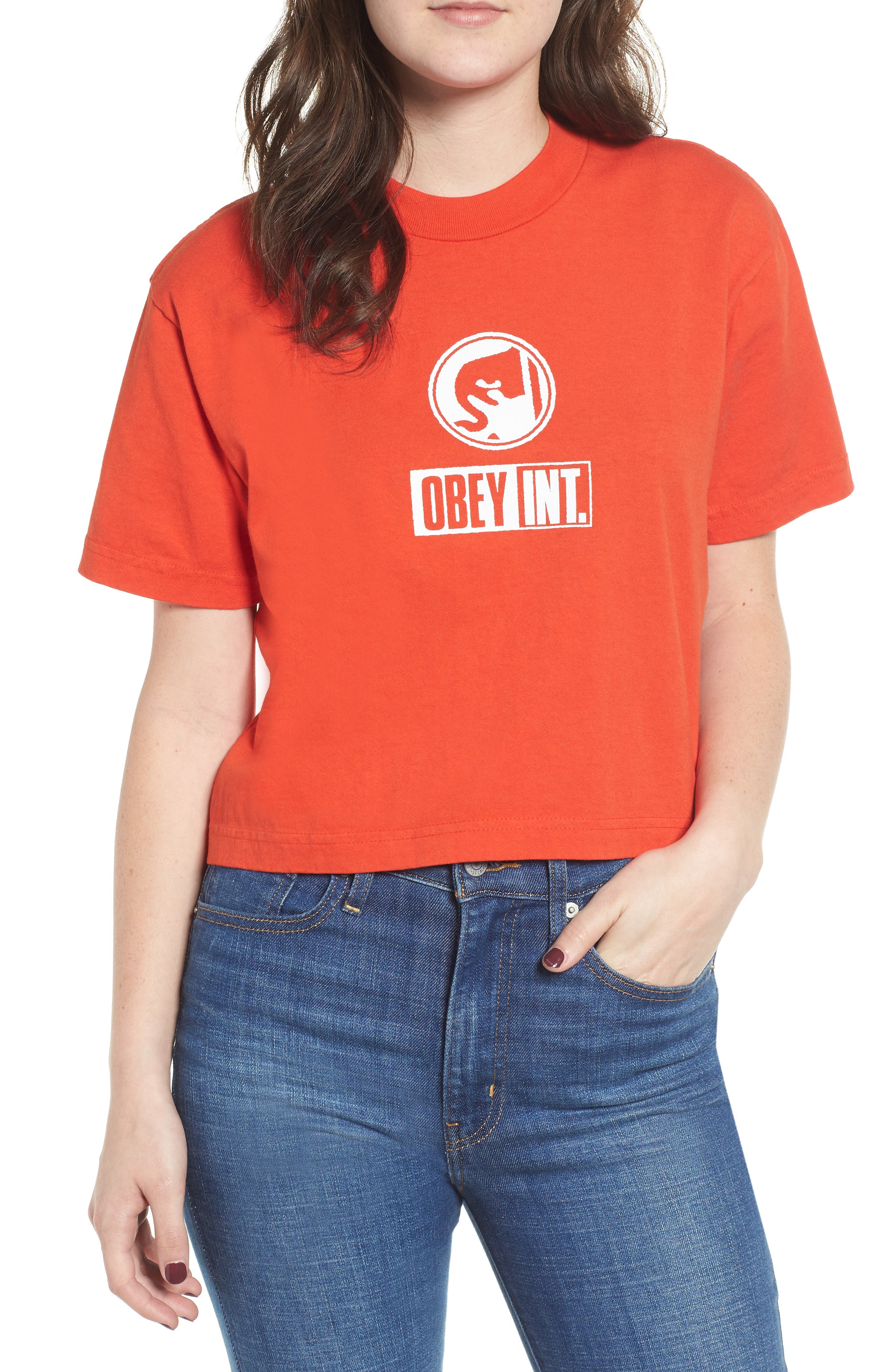 Int. Icon Crop Tee,                             Main thumbnail 1, color,                             800