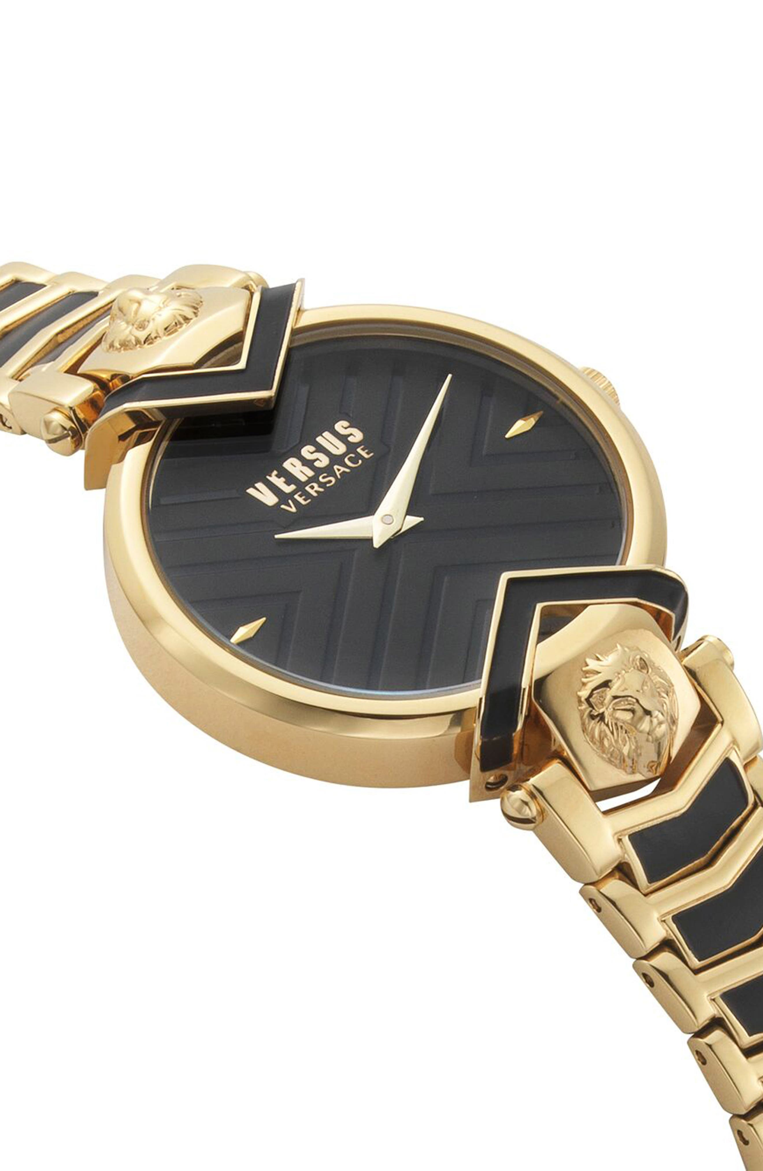 Mabillon Bracelet Watch, 36mm,                             Alternate thumbnail 3, color,                             GOLD/ BLACK GUILLOCHE/ GOLD