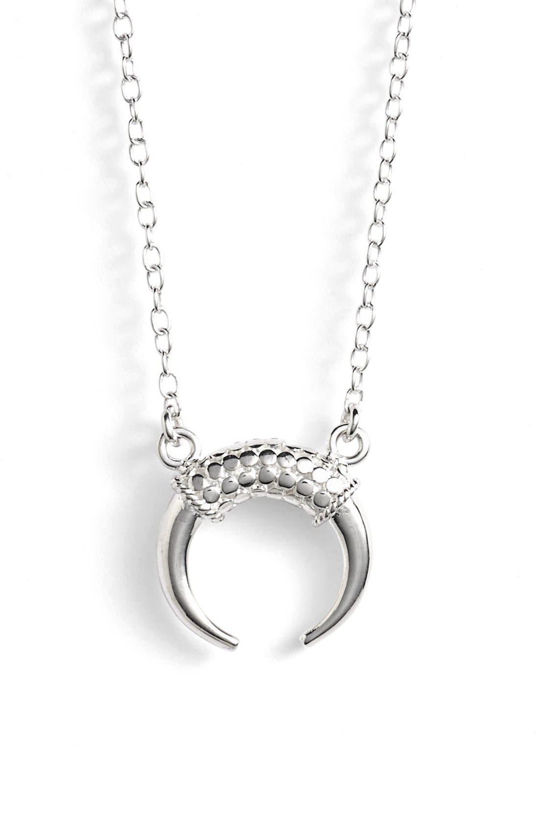 Mini Horn Pendant Necklace,                             Main thumbnail 1, color,                             040