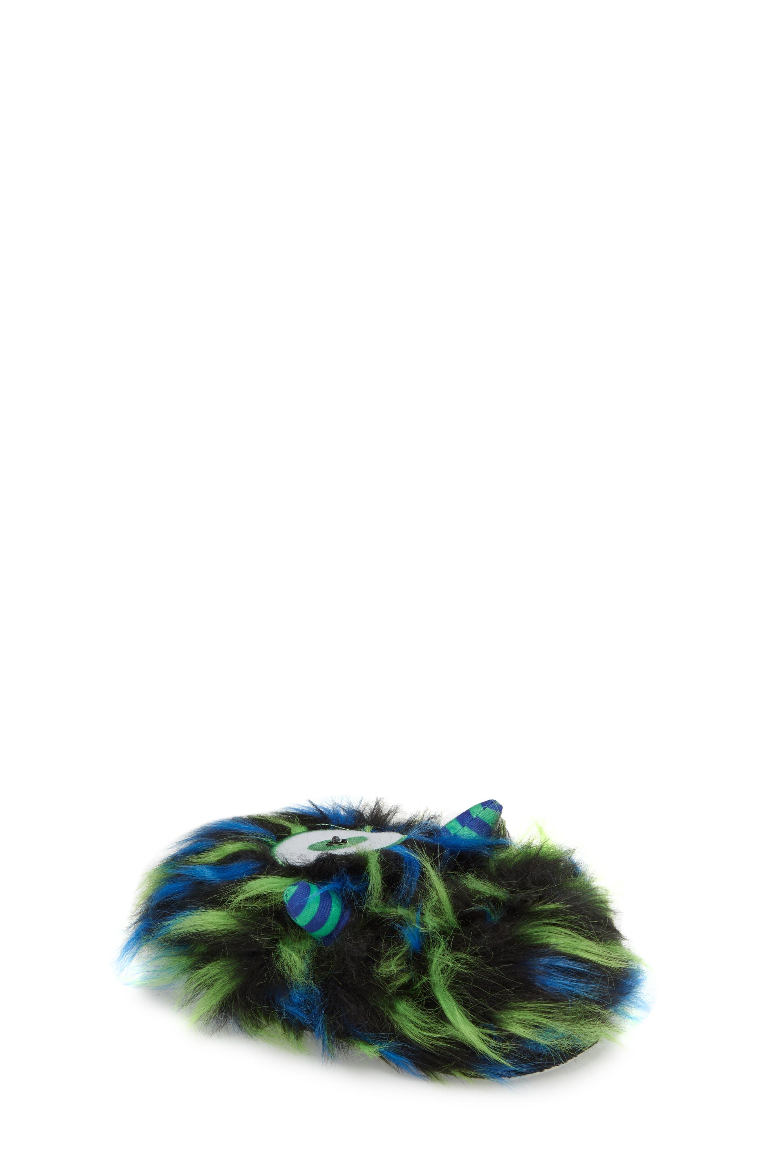 Cyclops Faux Fur Light-Up Eye Slipper,                             Alternate thumbnail 2, color,                             BLUE