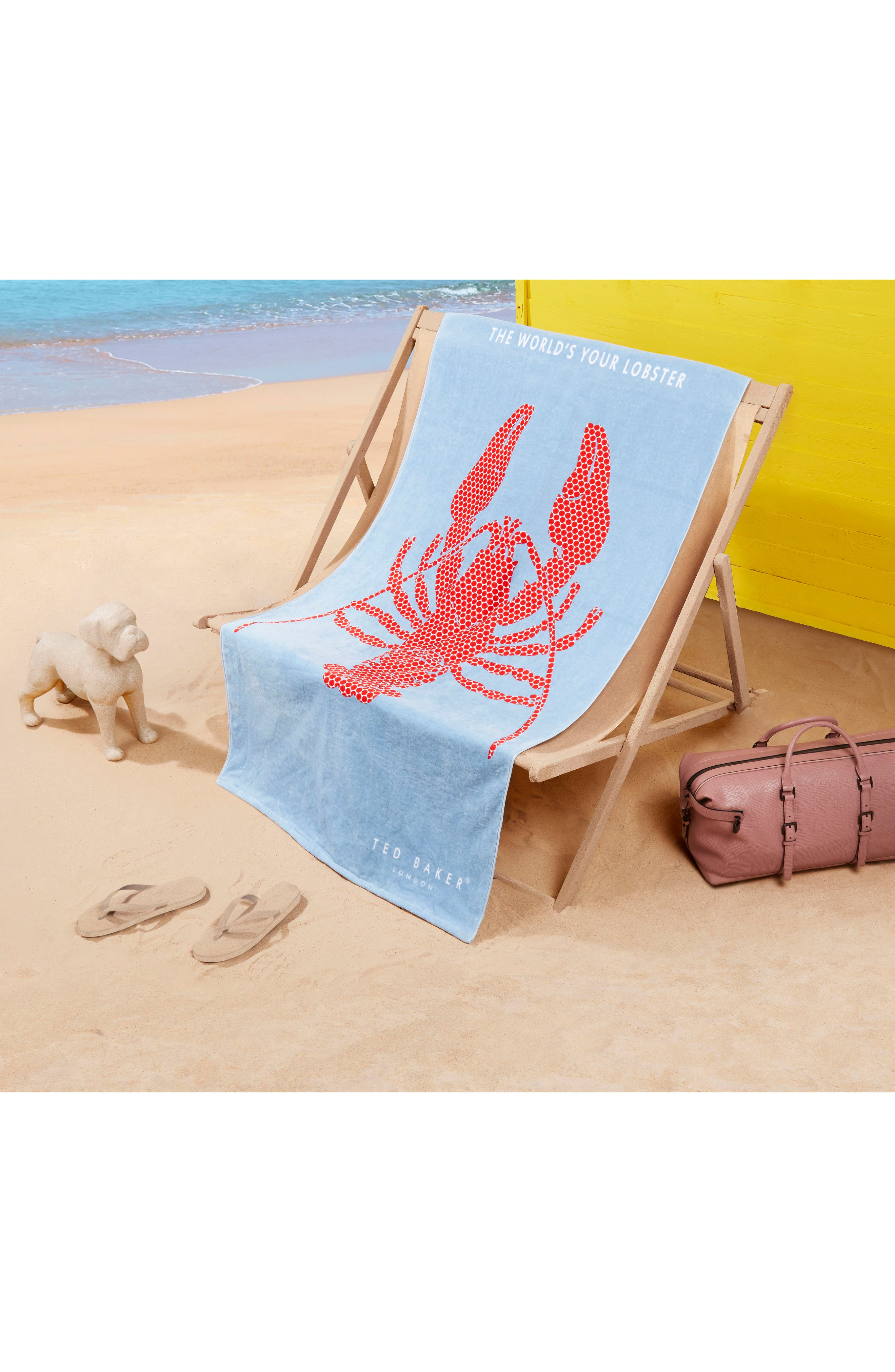 Lobster Beach Towel,                             Alternate thumbnail 2, color,                             BLUE