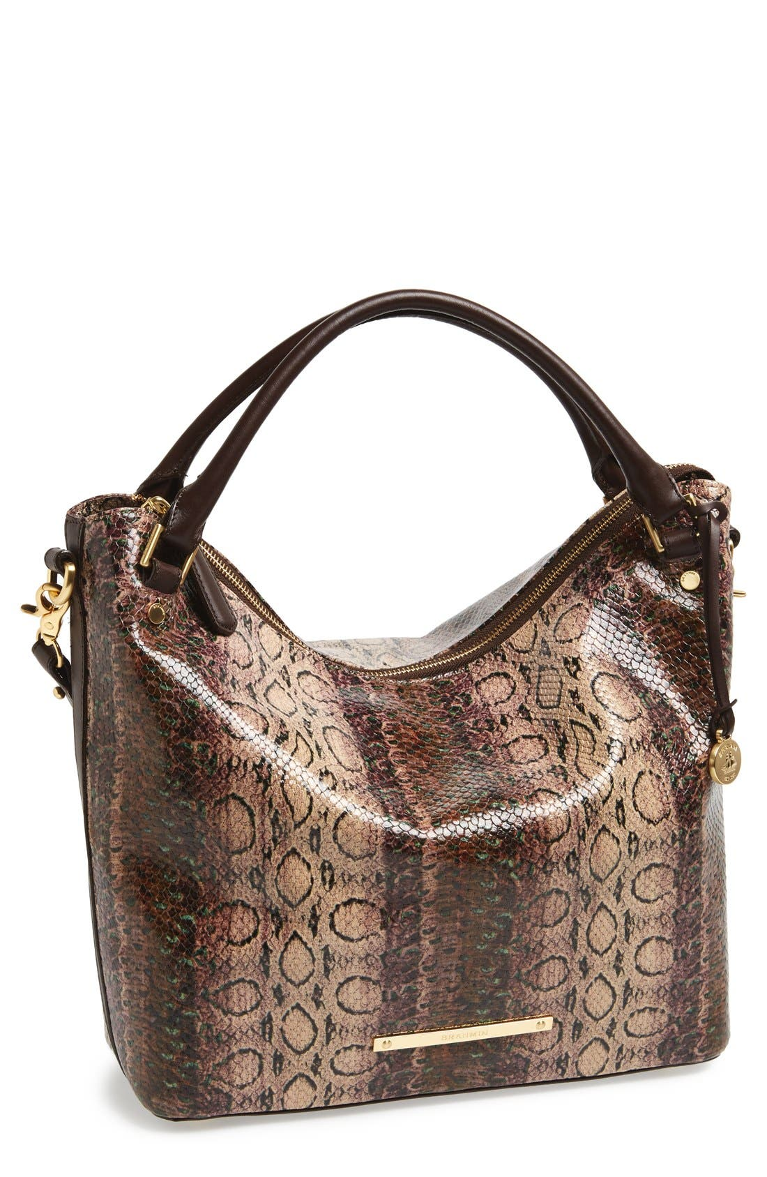 'Norah' Leather Hobo, Main, color, 200
