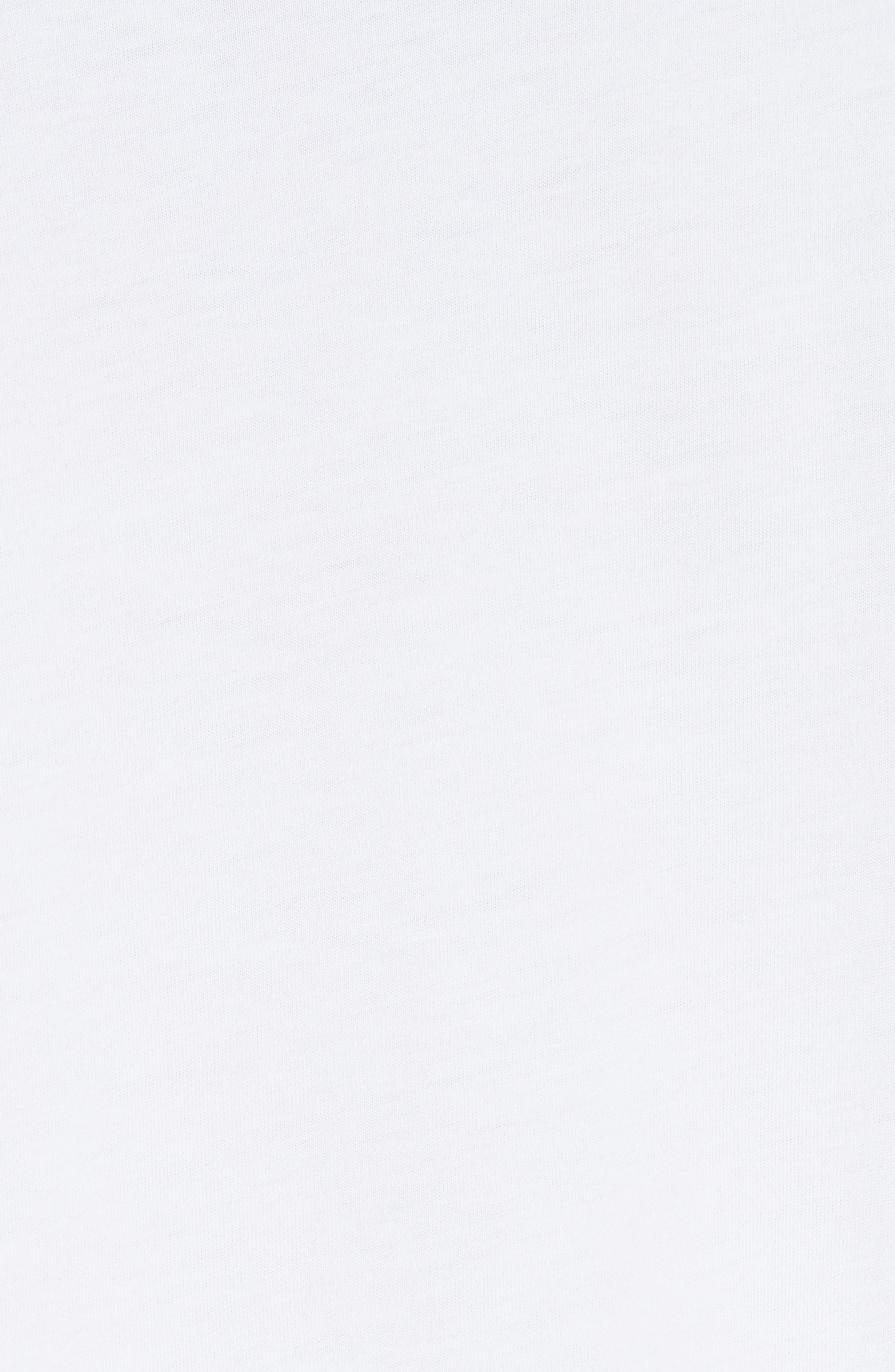 Colorblock Pleated Sleeve Top,                             Alternate thumbnail 5, color,                             WHITE/ WHITE/ METALLIC