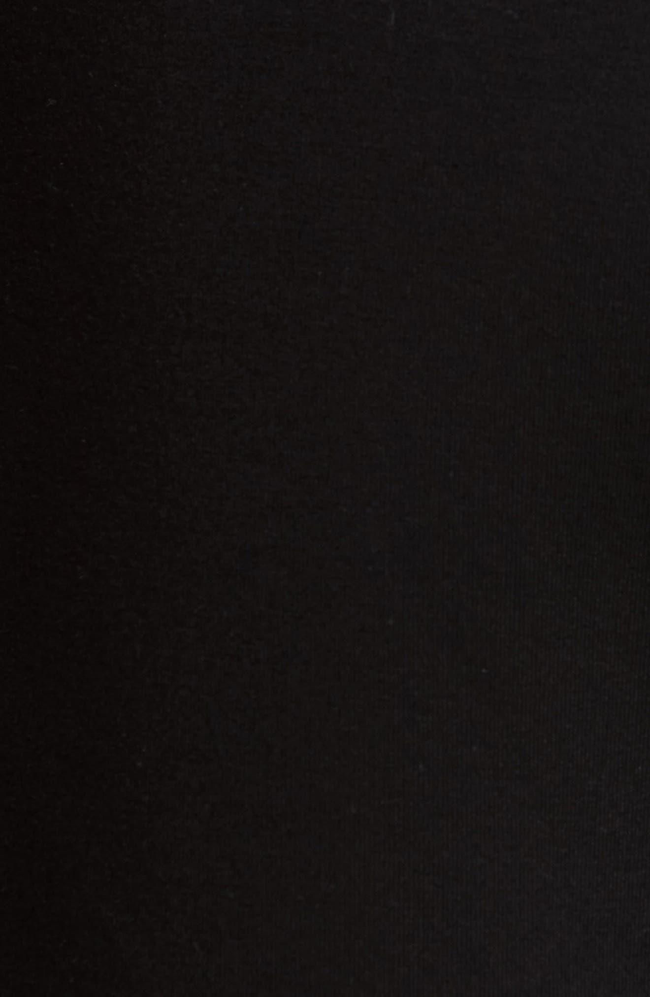 Retro Faux Leather Trim Sweat Shorts,                             Alternate thumbnail 5, color,
