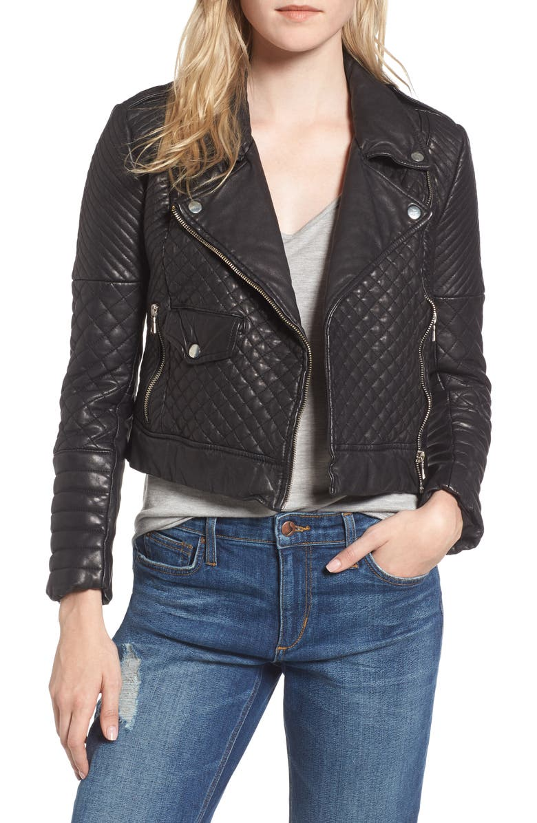 Joes Quilted Leather Moto Jacket Nordstrom