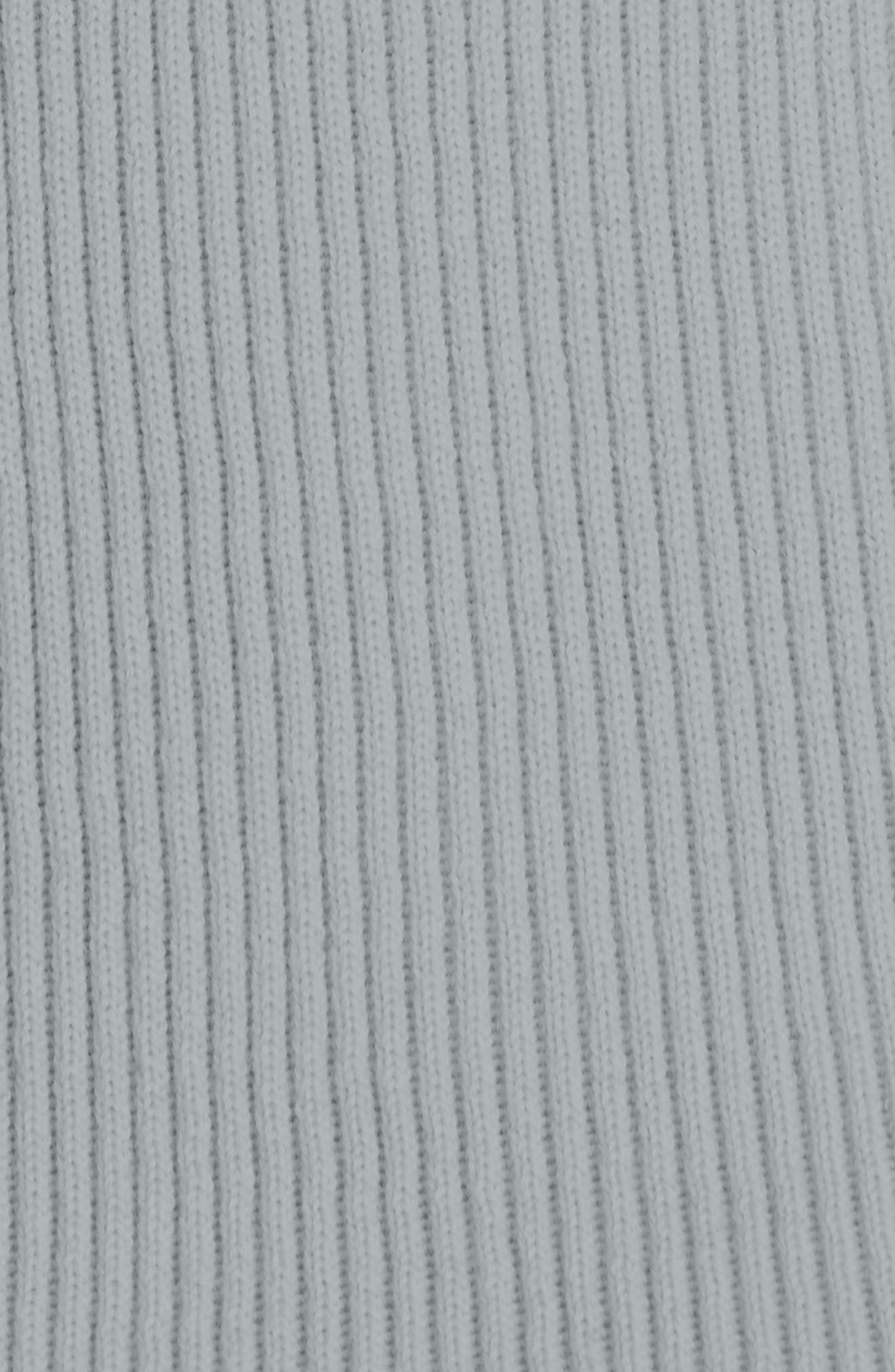 Ribbed Wool Turtleneck Sweater,                             Alternate thumbnail 5, color,                             GREY