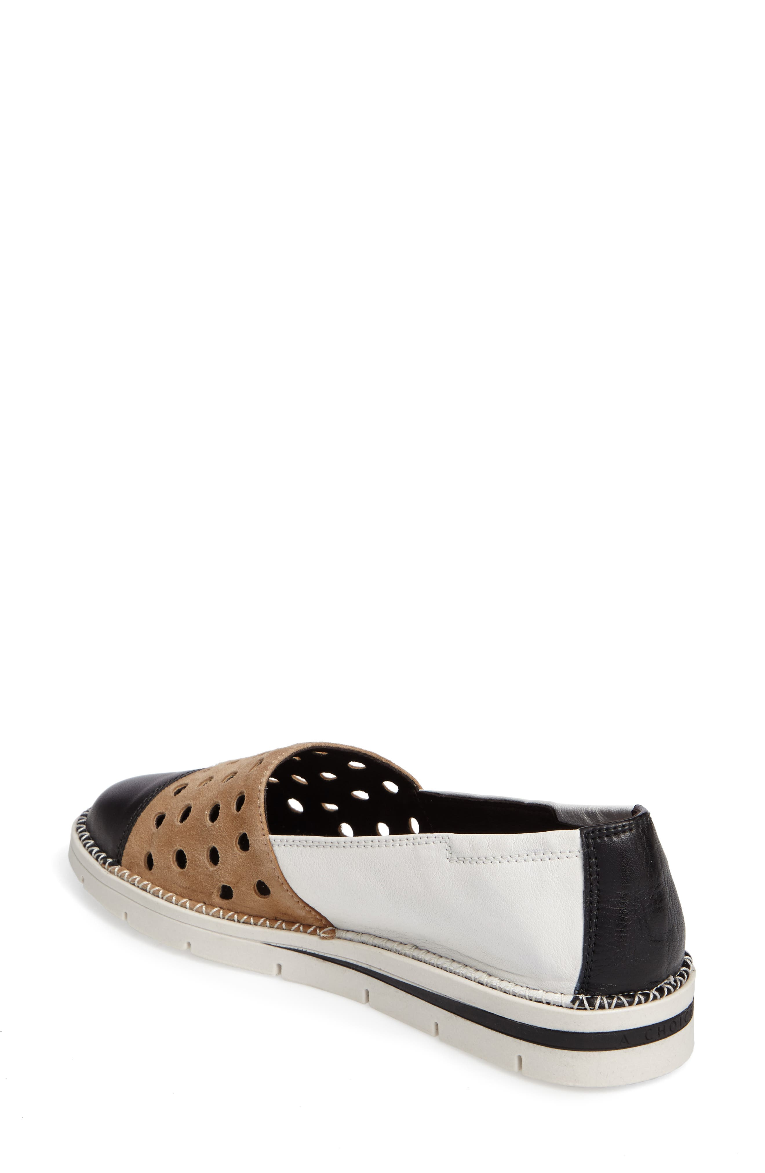 Chica Mixed Finish Slip-On,                             Alternate thumbnail 2, color,                             001