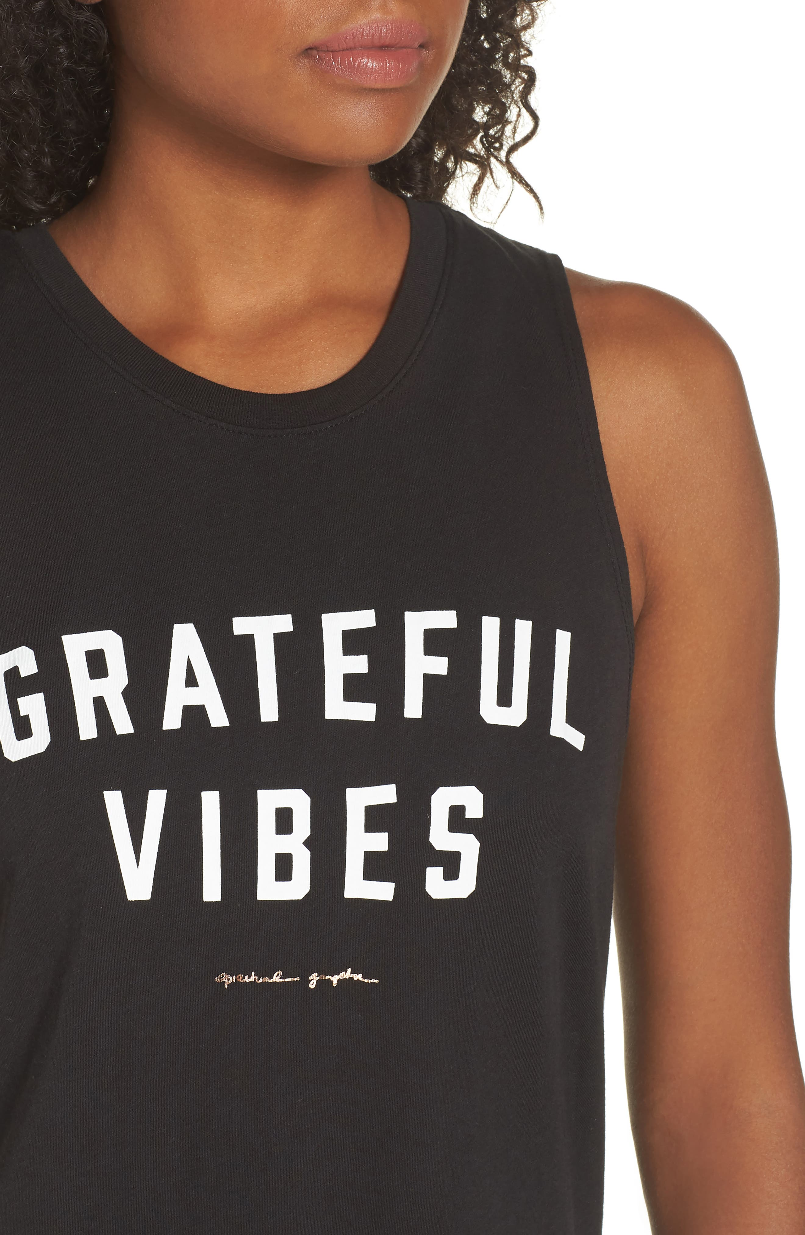Grateful Vibes Muscle Tee,                             Alternate thumbnail 4, color,                             003