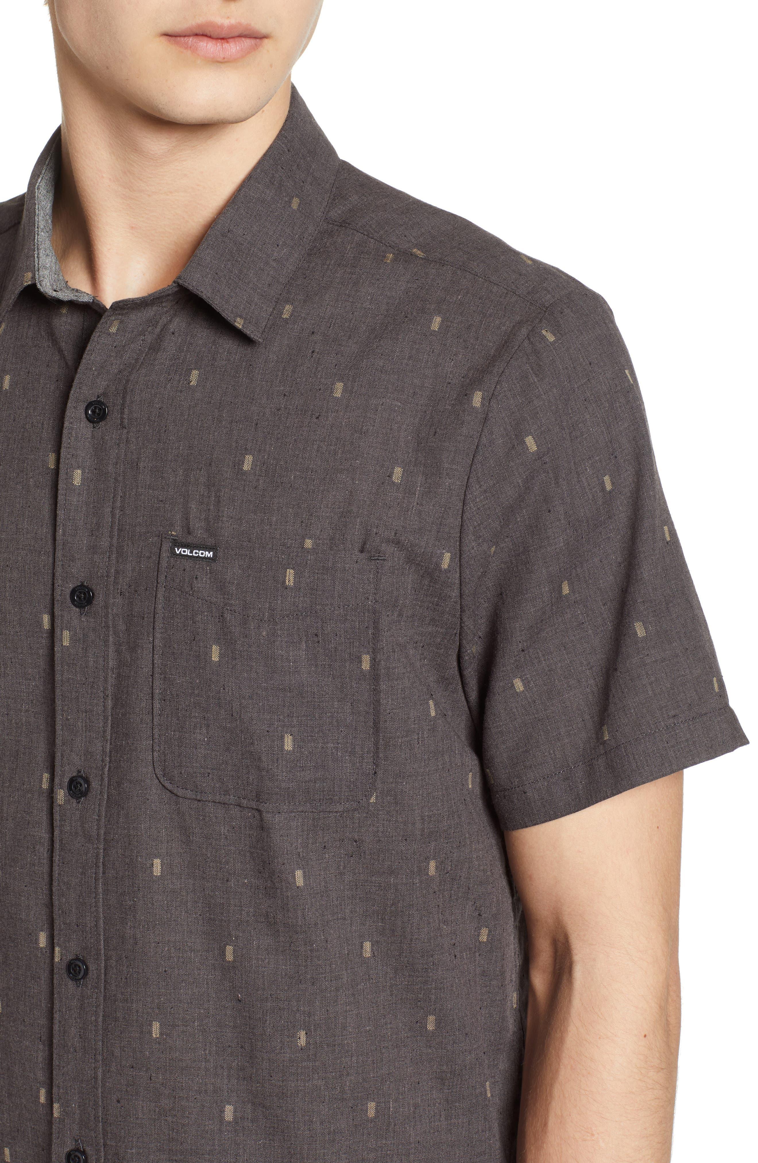 Gladstone Short Sleeve Shirt,                             Alternate thumbnail 4, color,                             001