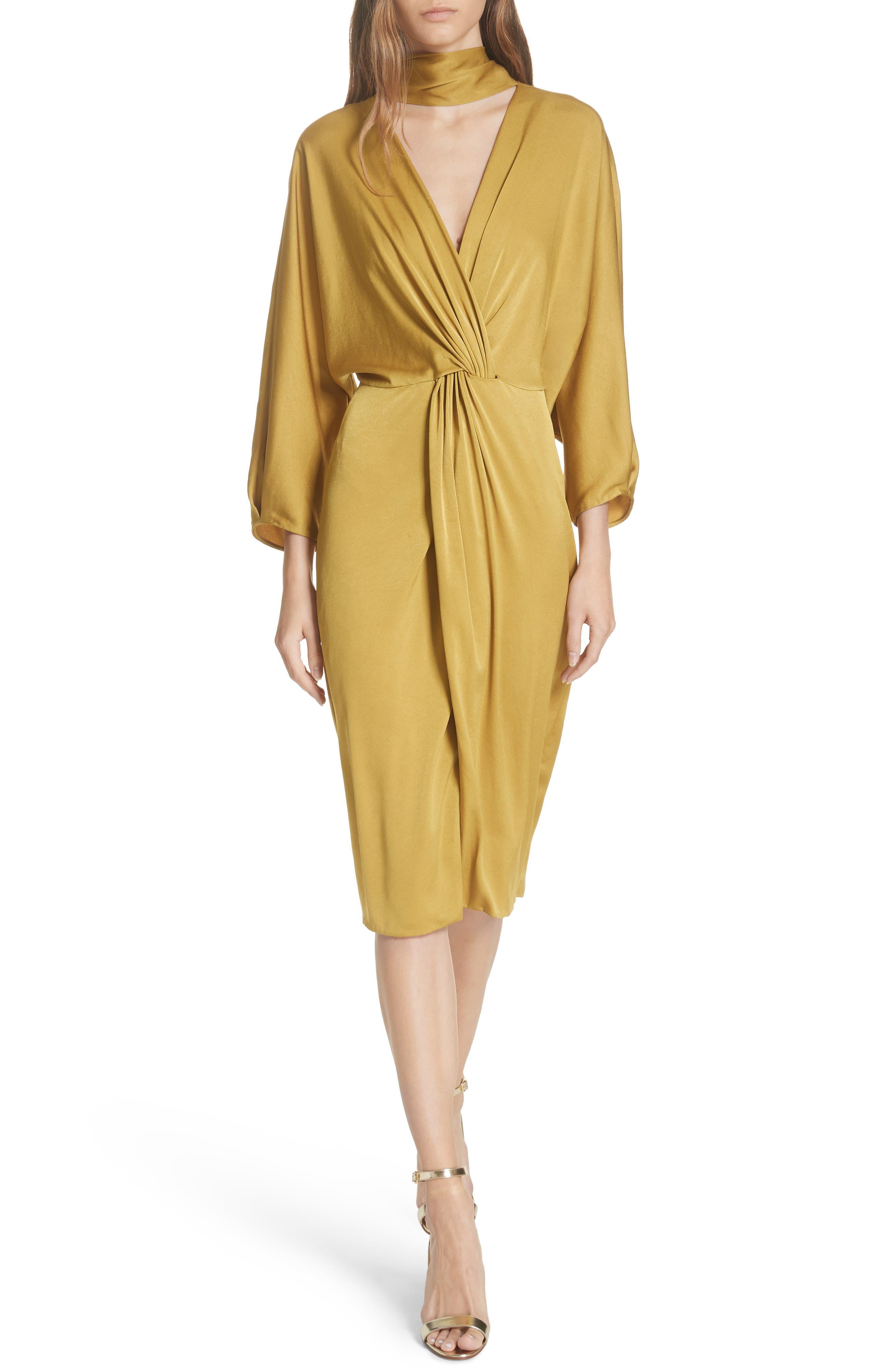 Twist Front Faux Wrap Dress, Main, color, 710